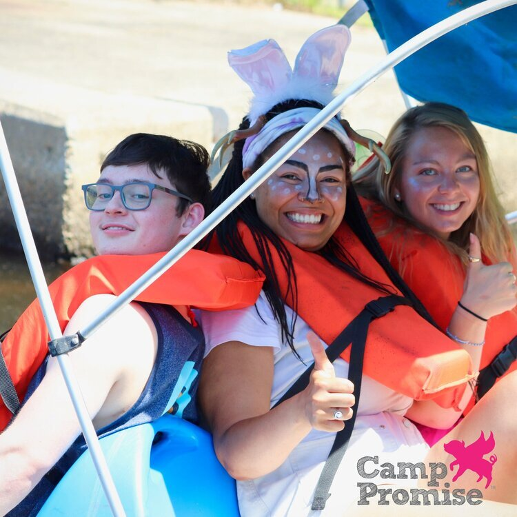 Fun on the boat at Camp Promise-East!