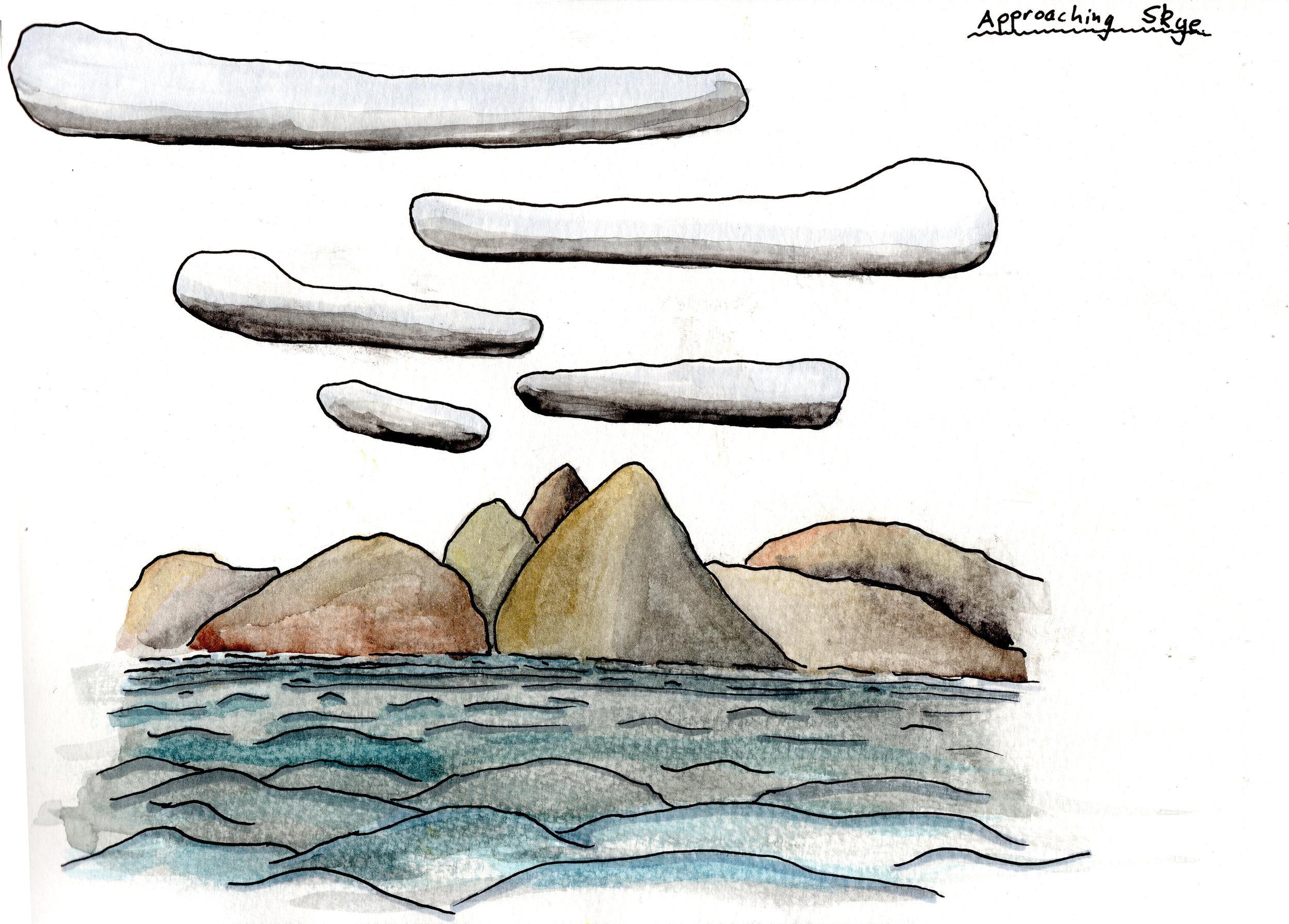 Approaching the Isle of Skye