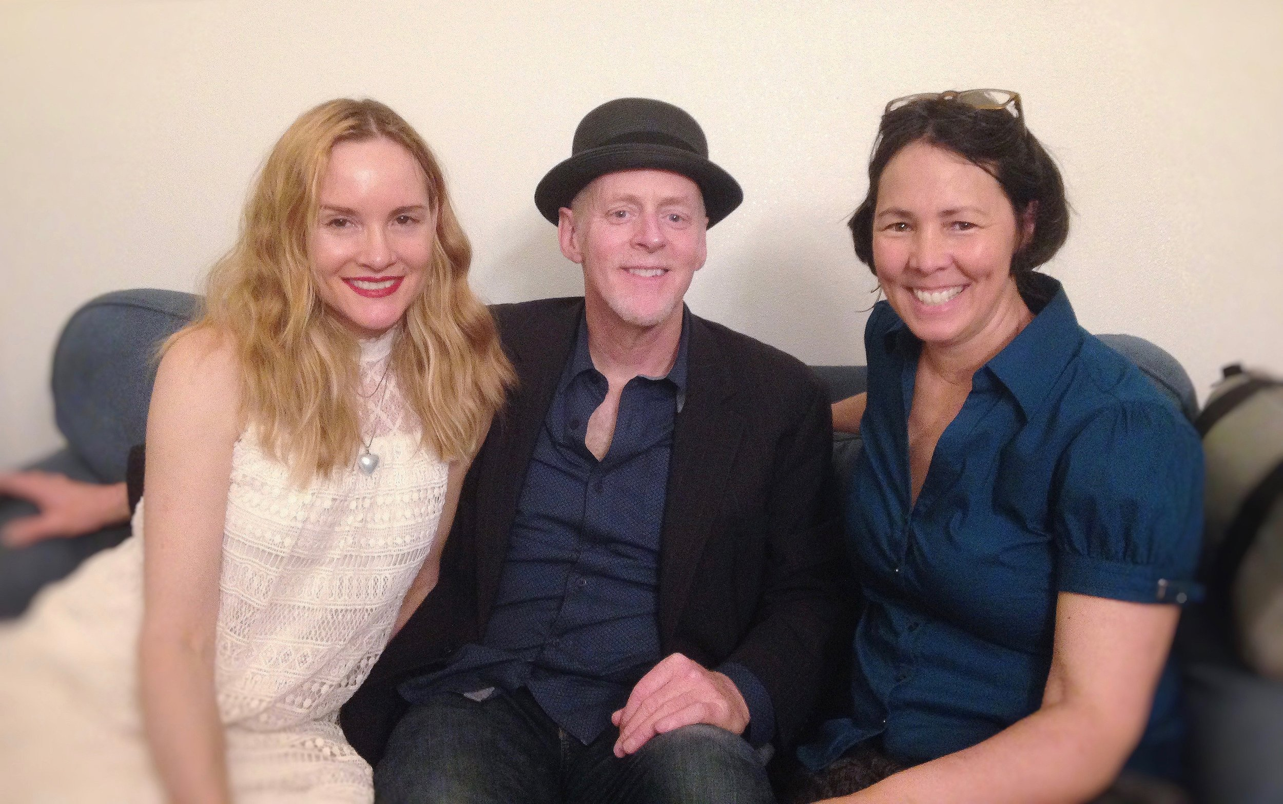 Carmen Nickerson and Willy Porter with May-Lily Lee