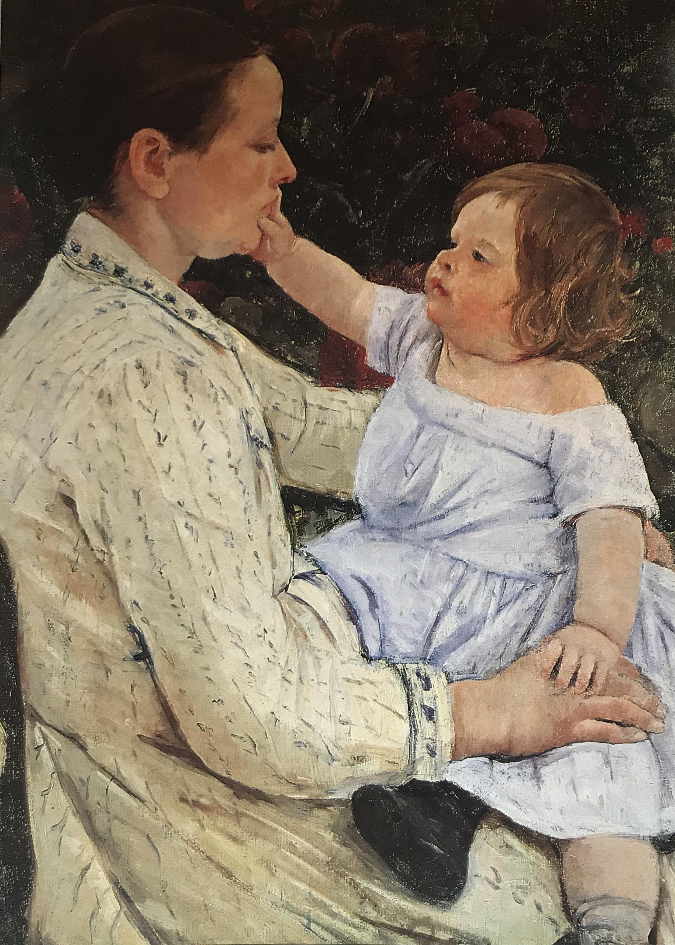 The Child's Caress - Mary Cassatt 1890