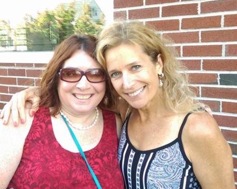 American Spark correspondent Carol Vassar with Suzanne Bona