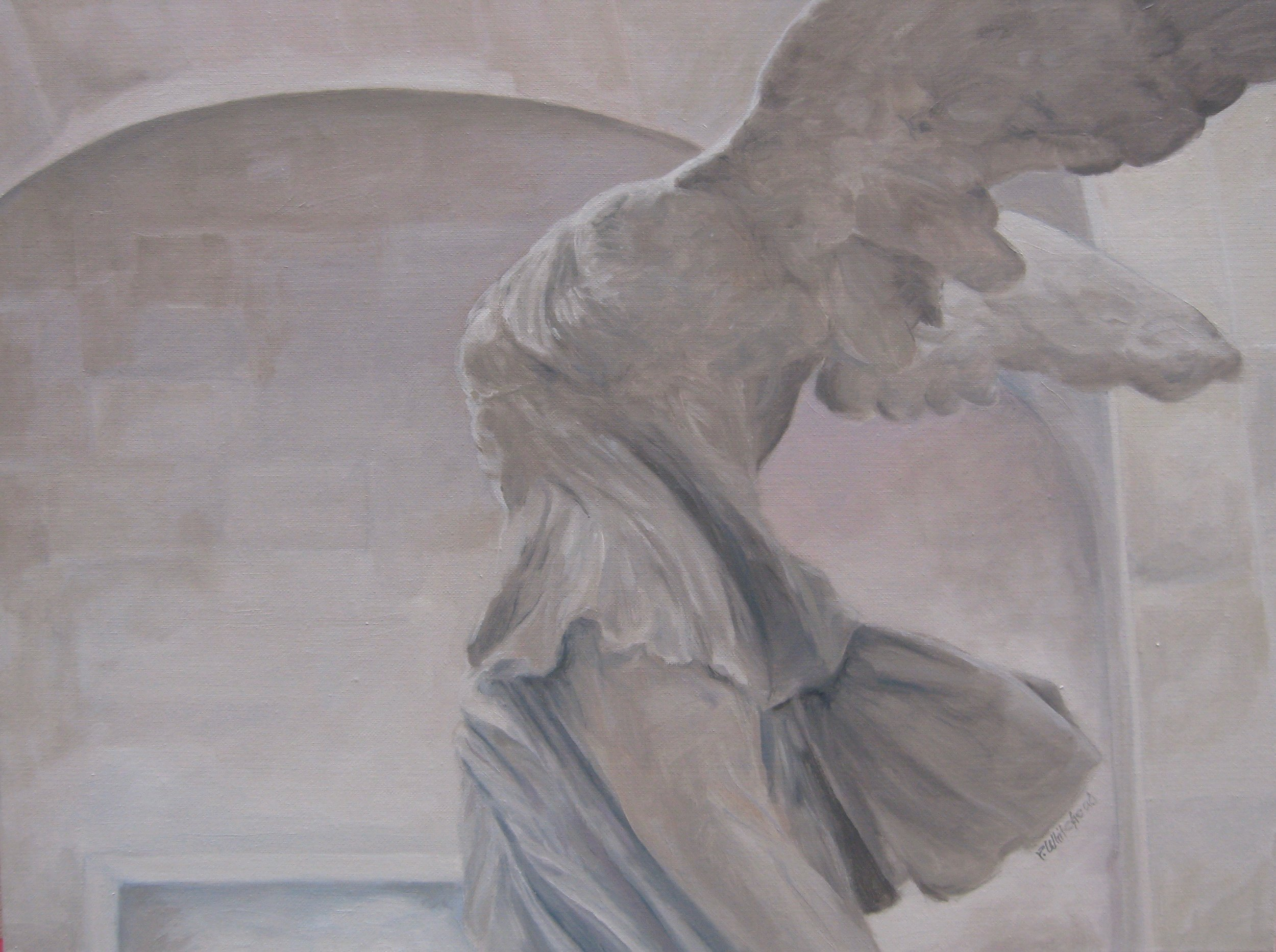 "Wings, 24 x 18"", oil, (sold)"