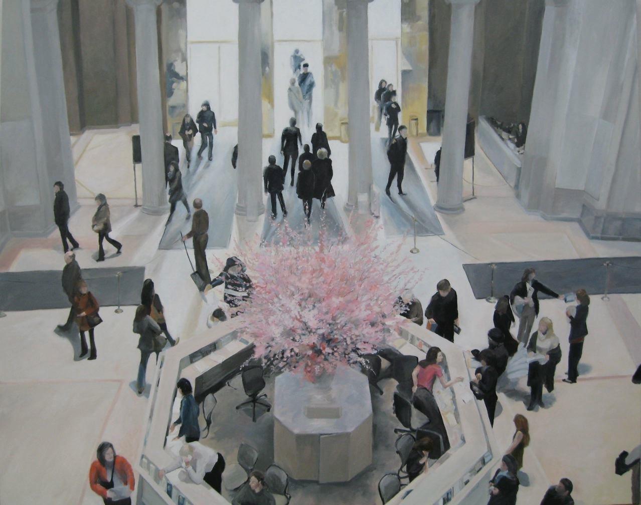 """Metropolitan Spring, 60 x 48"""" oil, (sold)"""