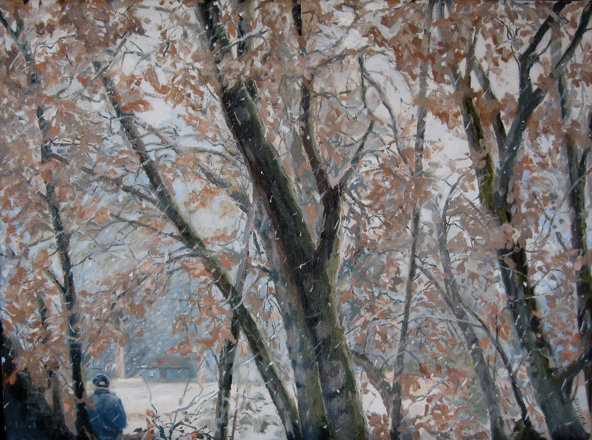 """Winter's Tale, 16 x 12"""", oil (sold)"""