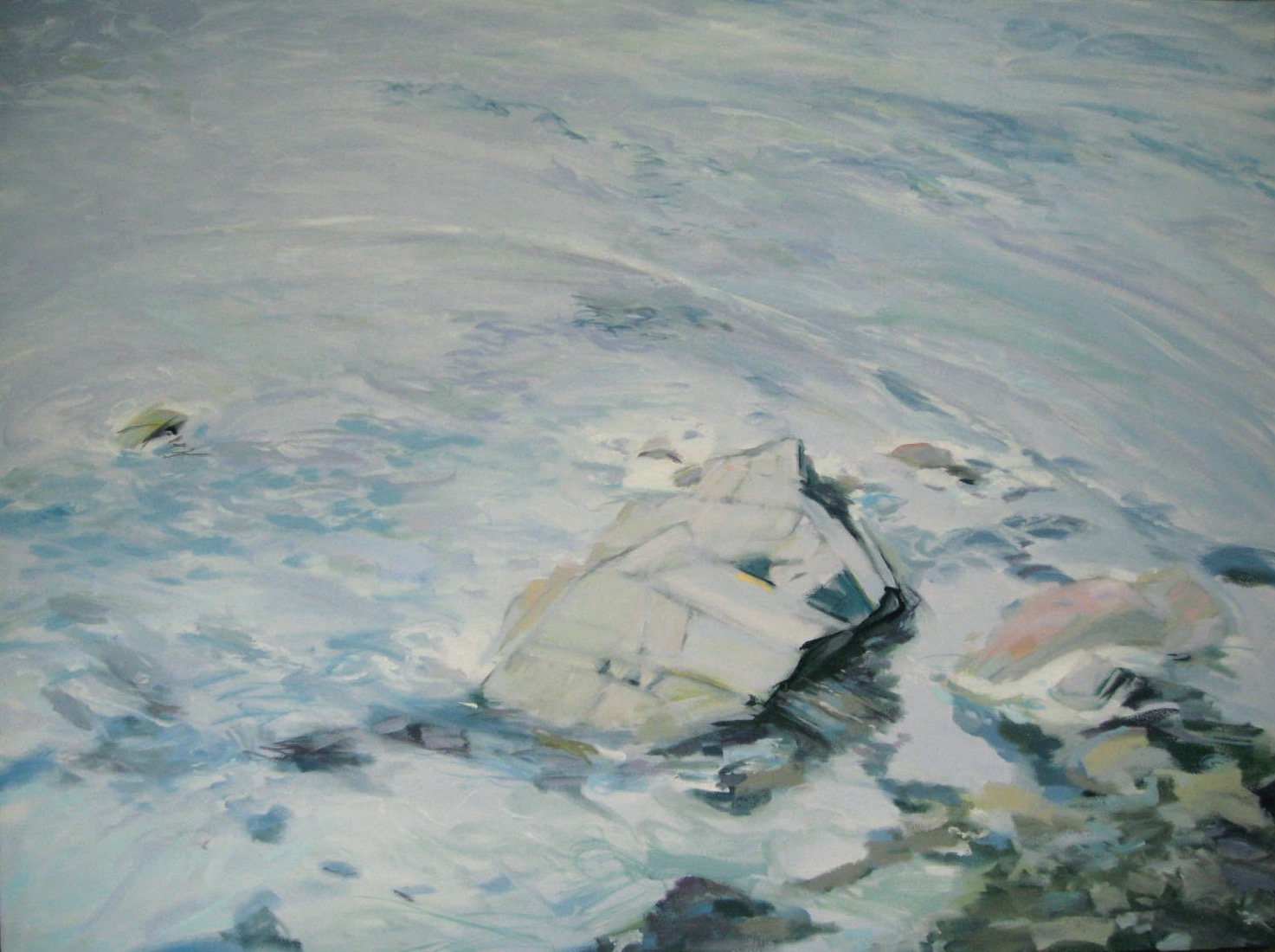 """Wave #19, 40 x 30"""", Oil"""