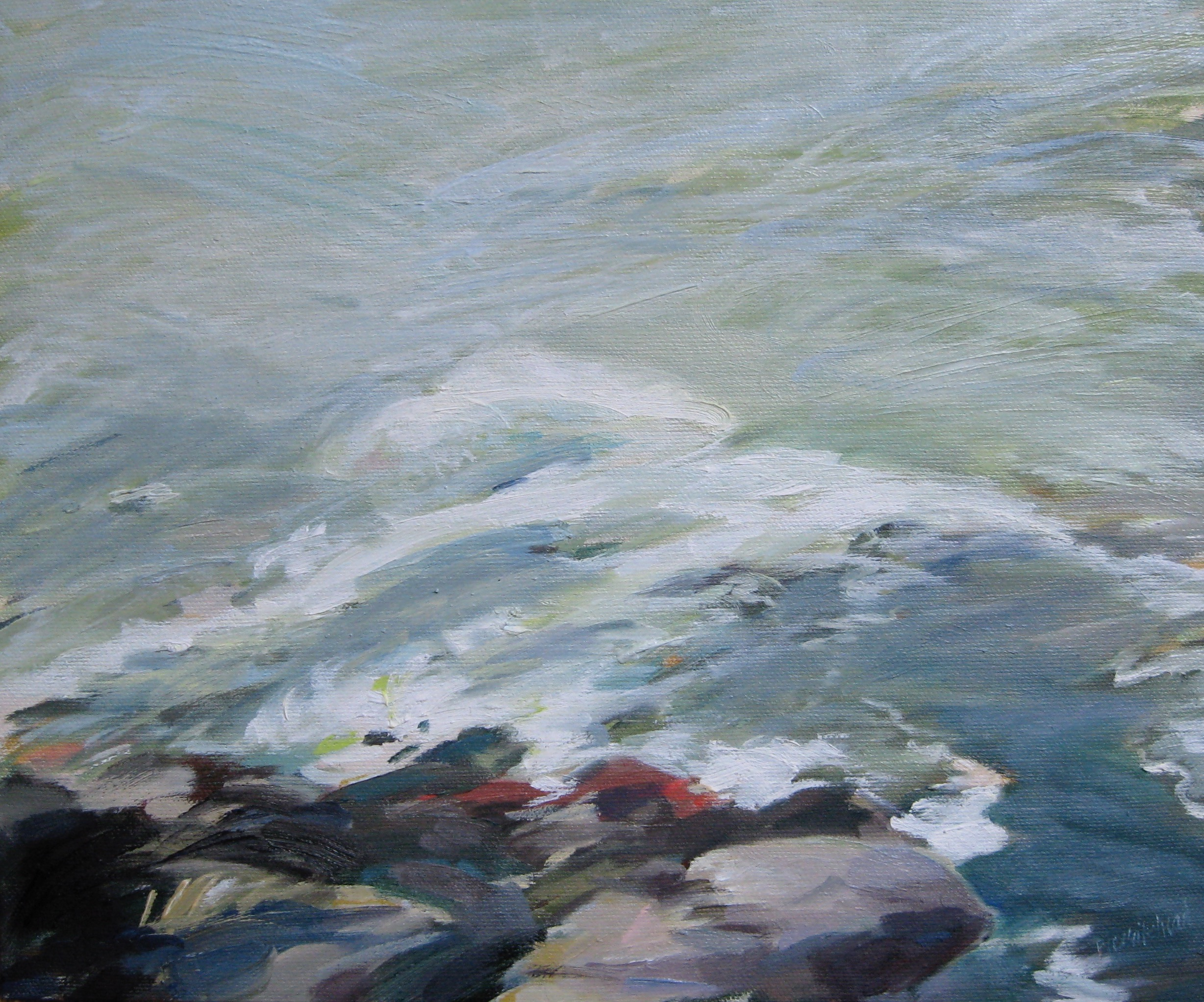"""Wave #8, 12 x 10"""", Oil (sold)"""