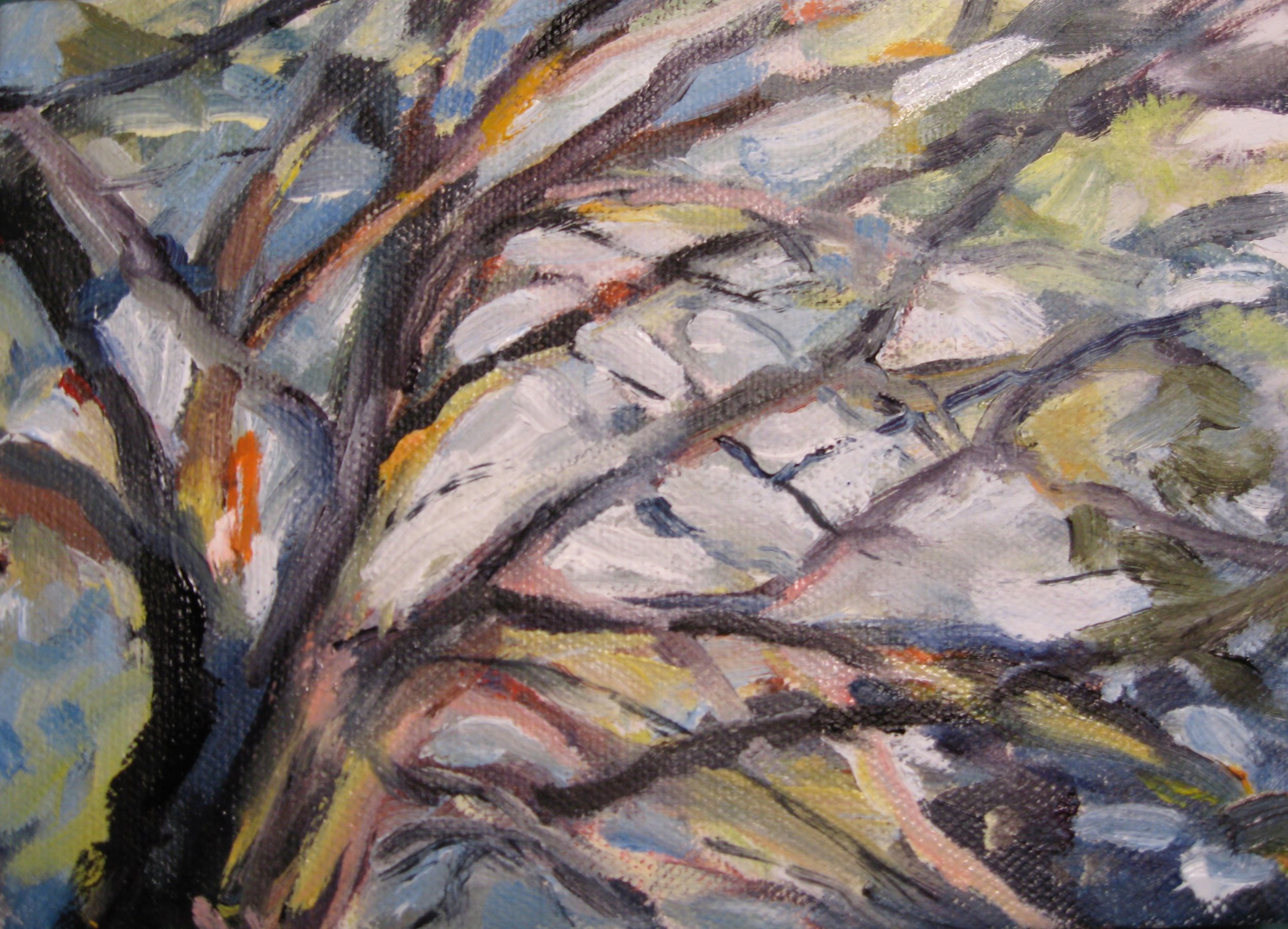 Branches I, 7 x 5, Oil