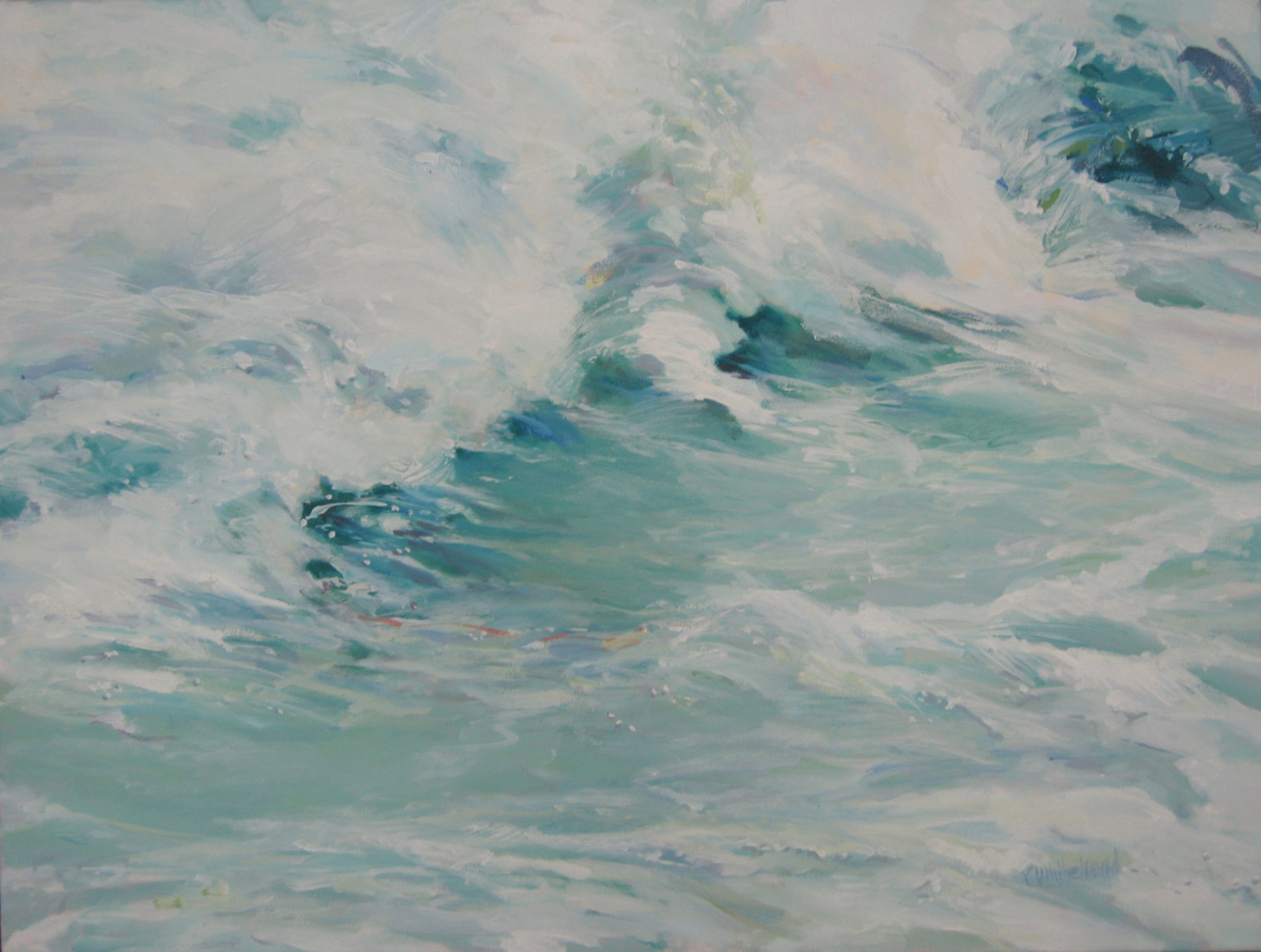 """Wave #27, 24 x 18"""", Oil (sold)"""