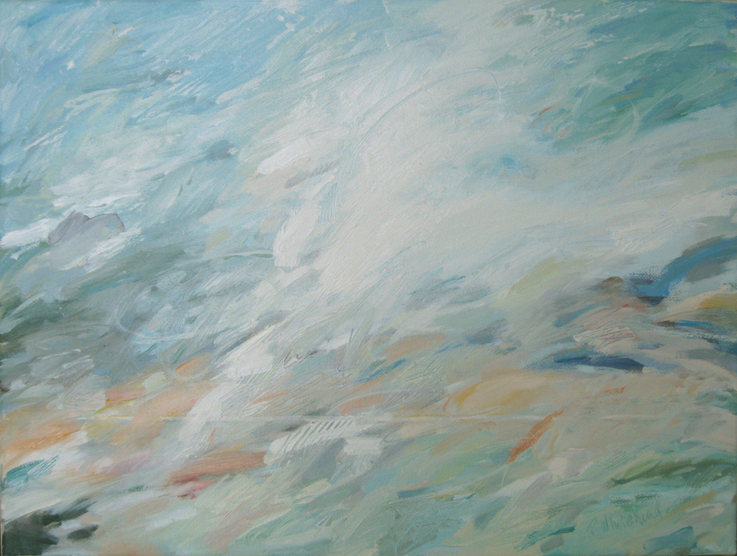 """Horizon, 16 x 12"""", Oil"""