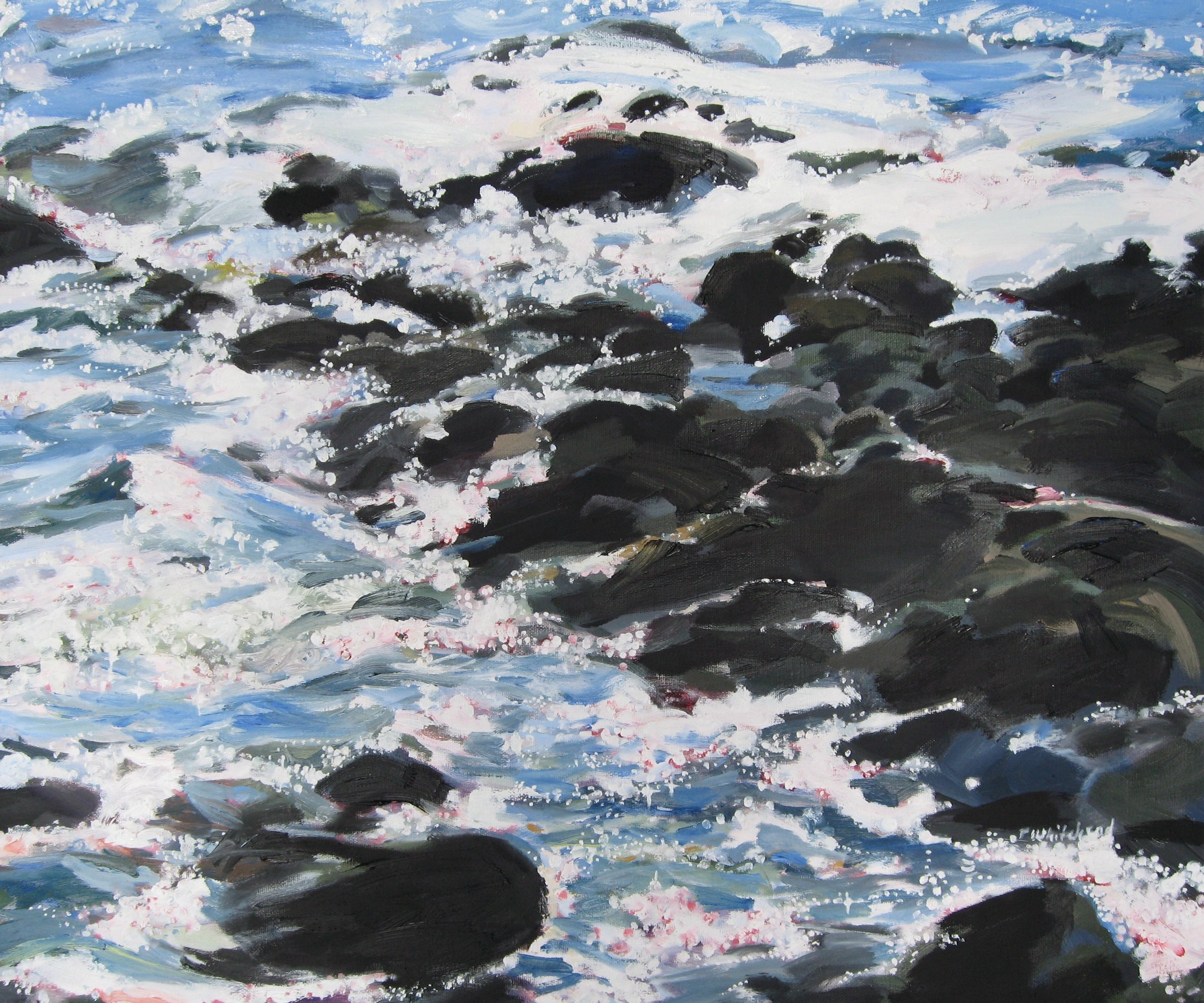 Wave #16, 24 x 20, Oil, (sold)