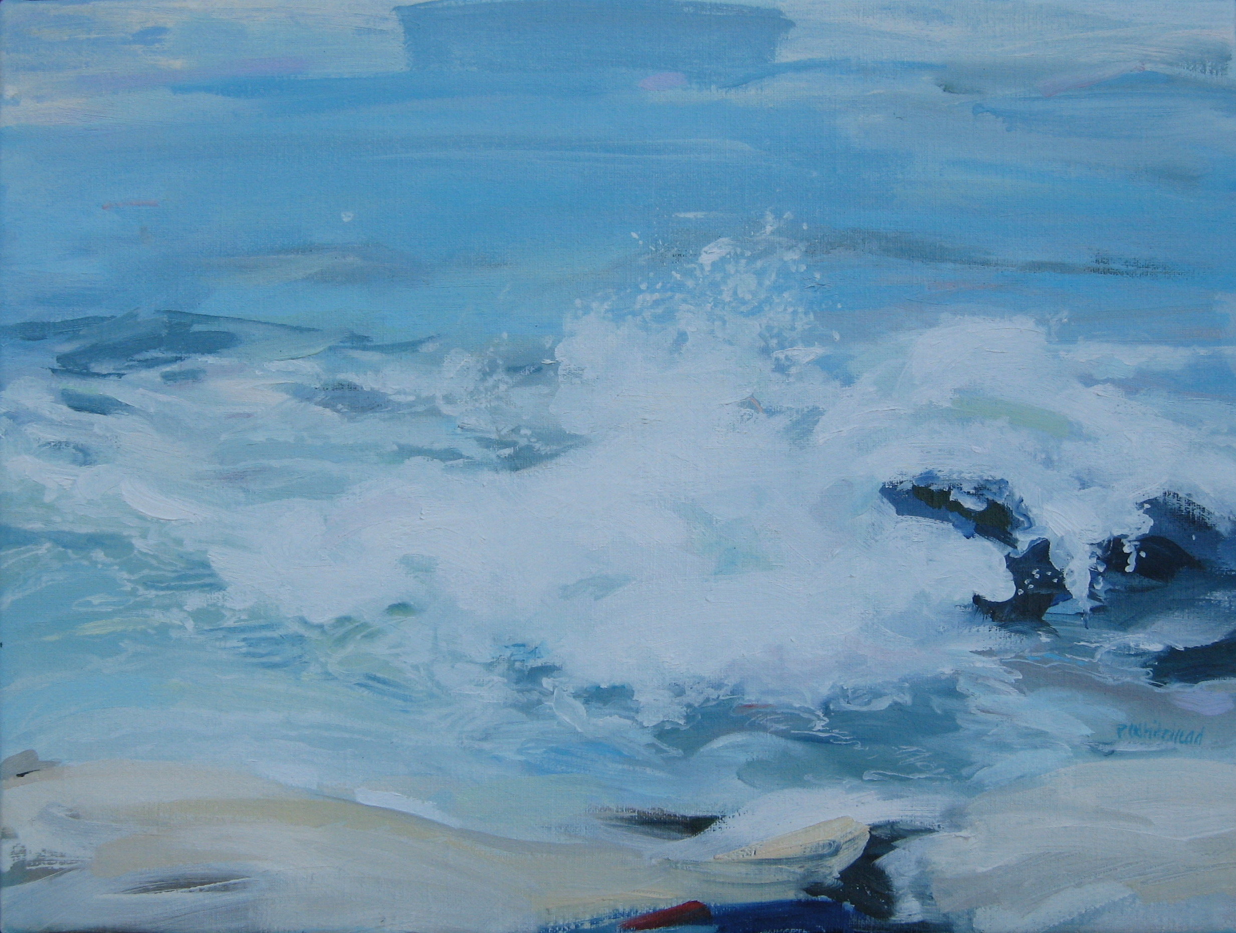 """Wave #22, 16 x 12"""" Oil, (sold)"""
