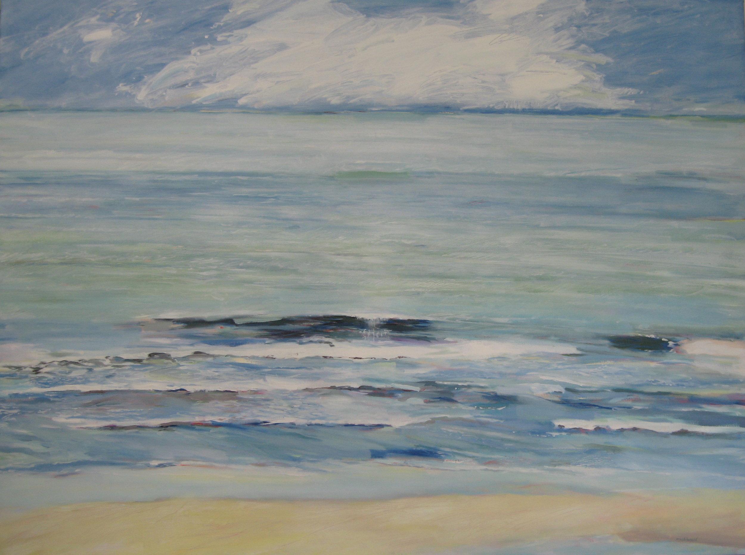 "Soft Seas,48 x 36"", Oil, (sold)"