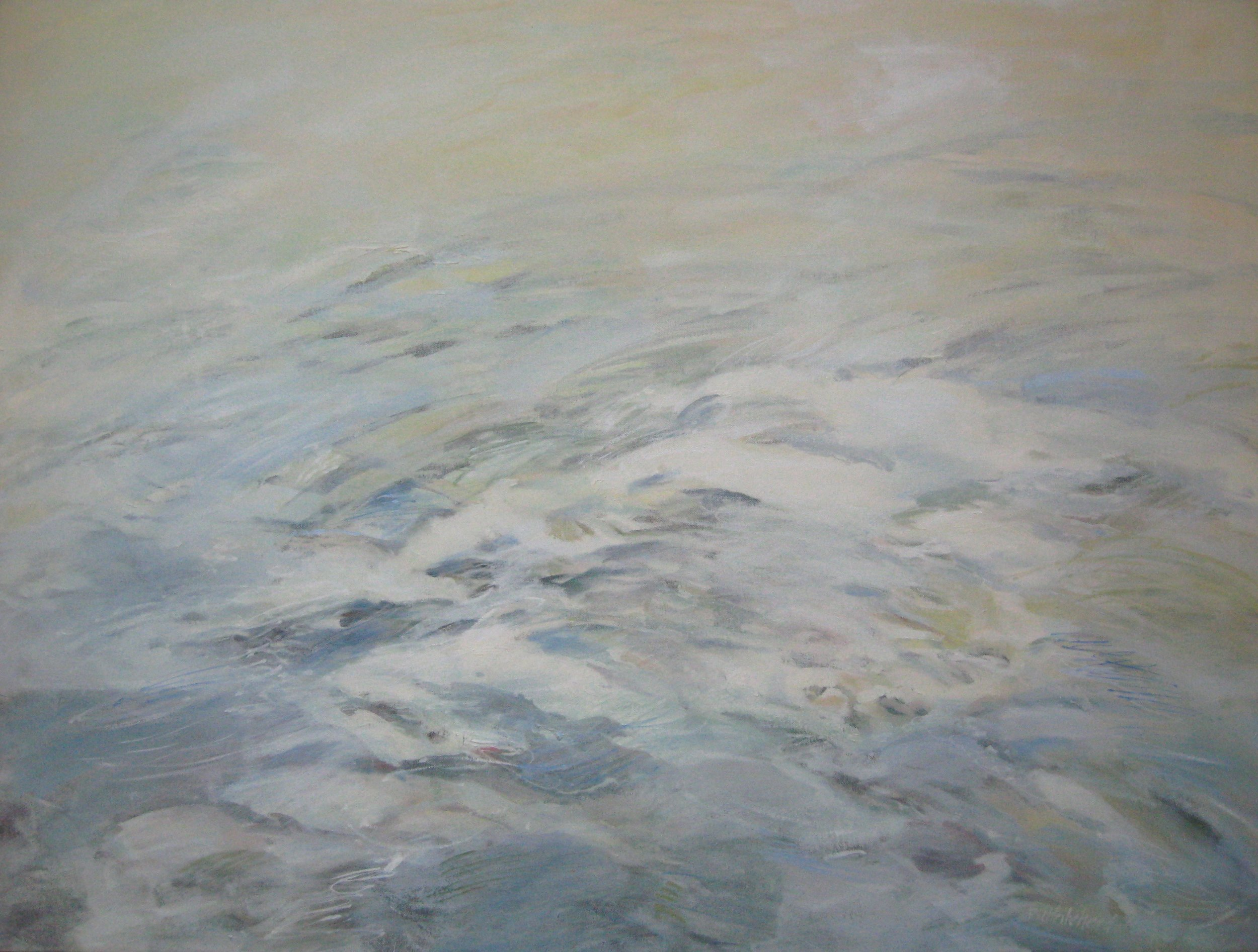 """Wave #18,  40 x 30"""", Oil, (sold)"""