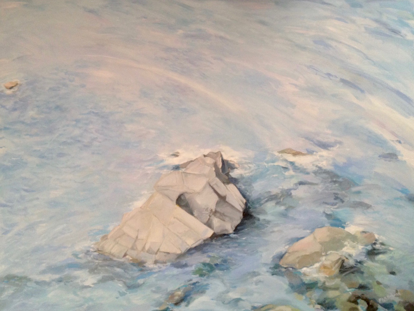 "Patterns II, 48 x 36"", oil (sold)"