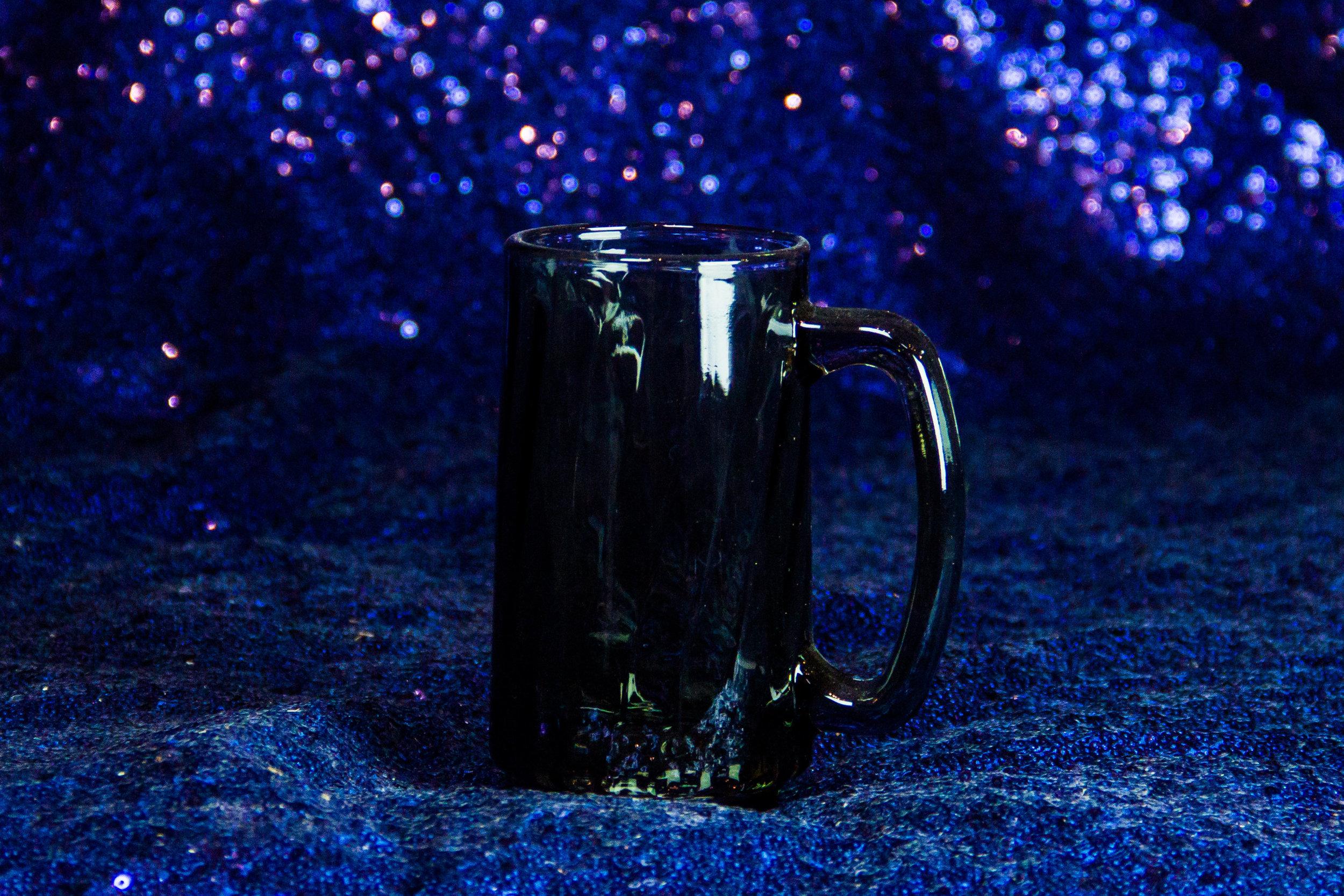 Black Handled Glass