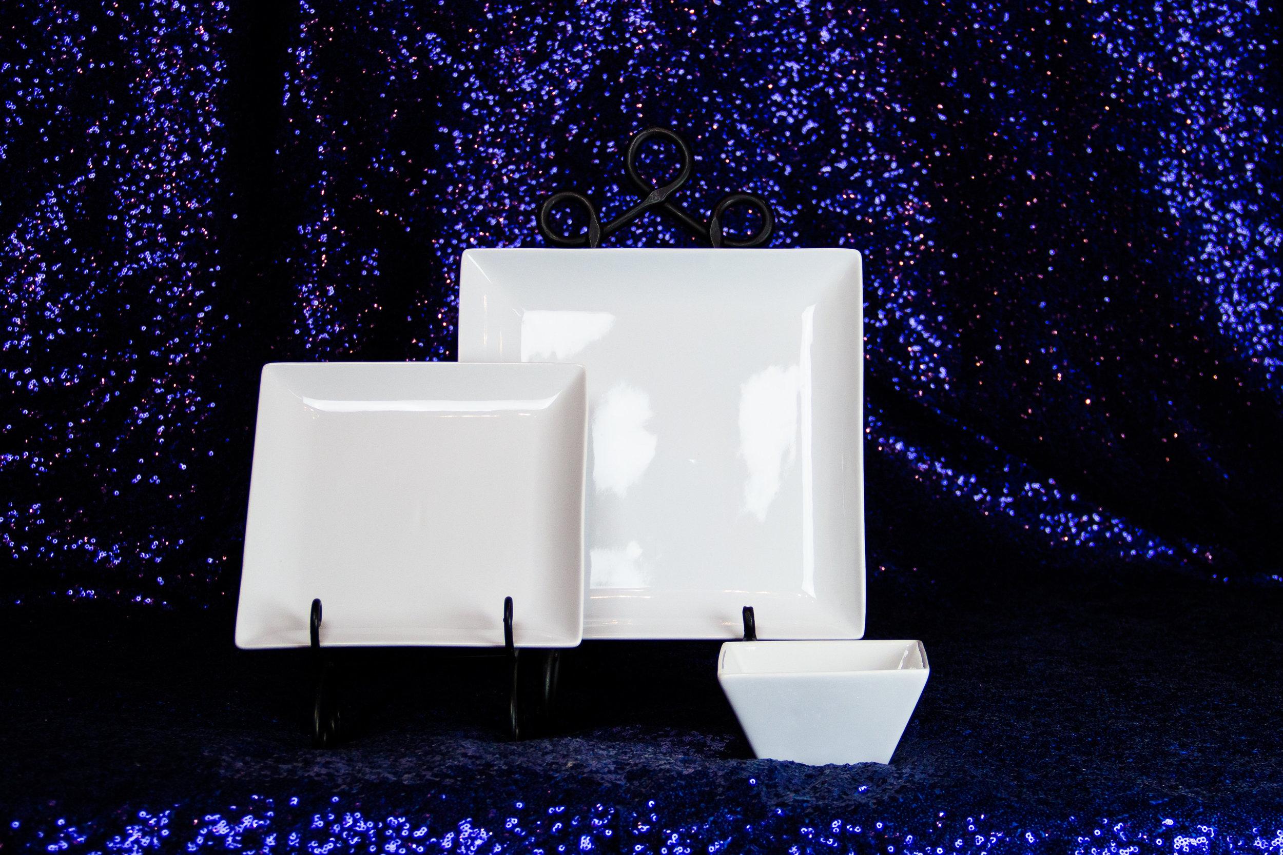 Square Plates & Bowls