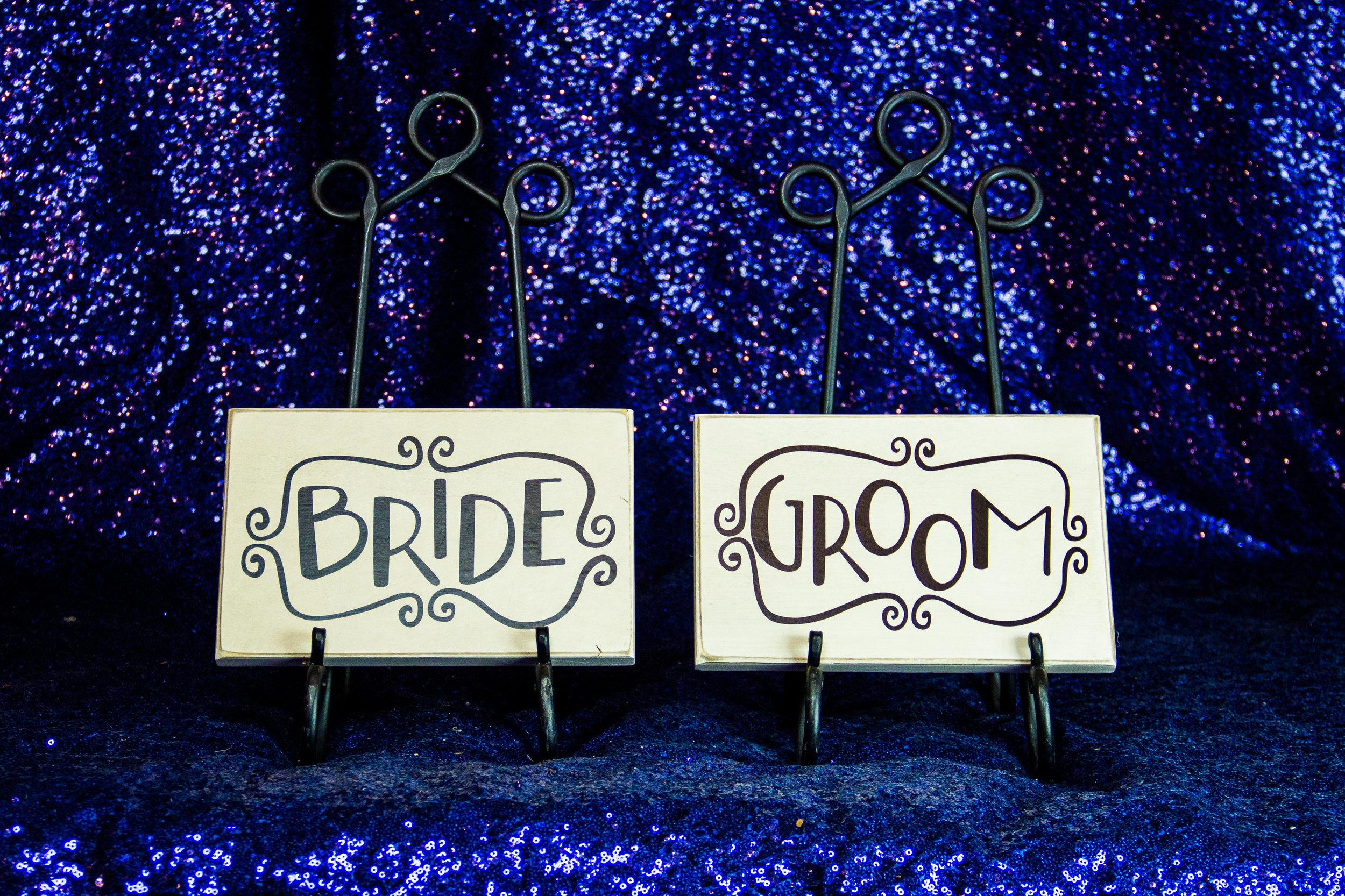 Wooden Bride & Groom