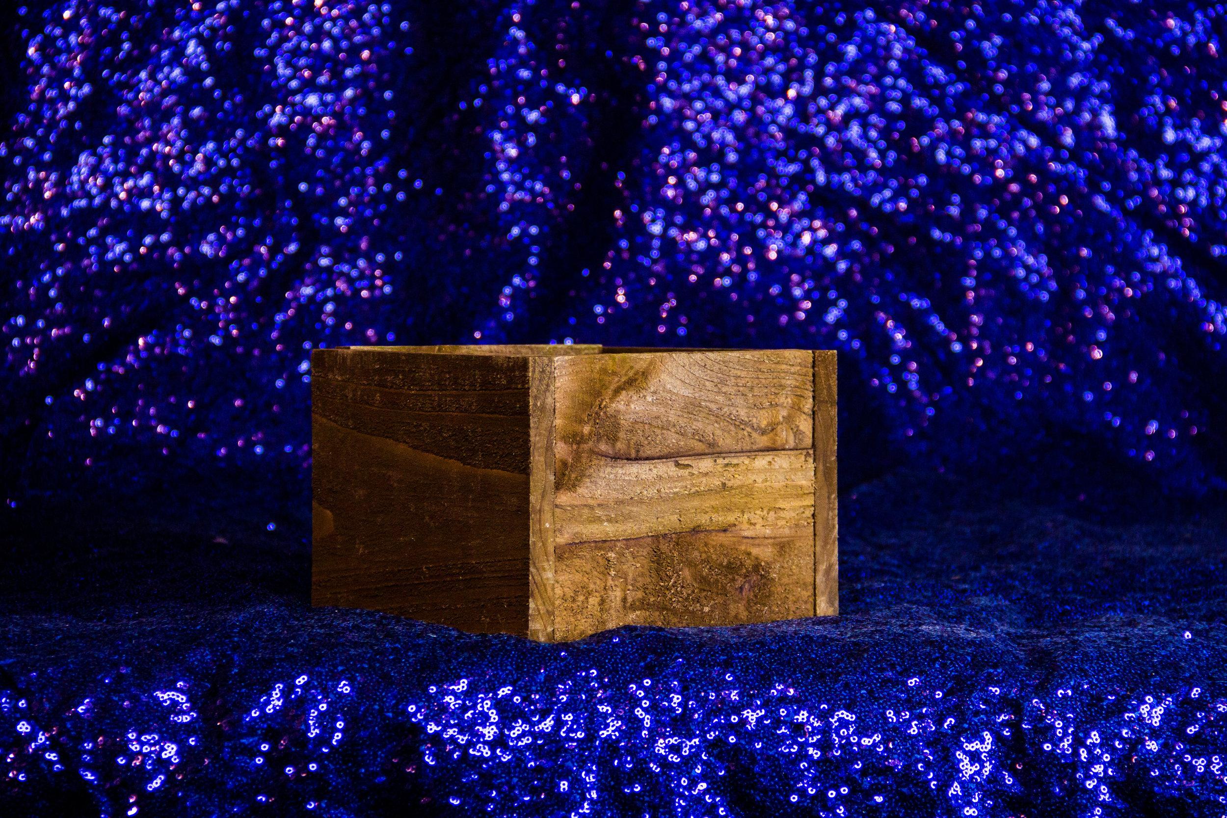 Cube Wooden Box