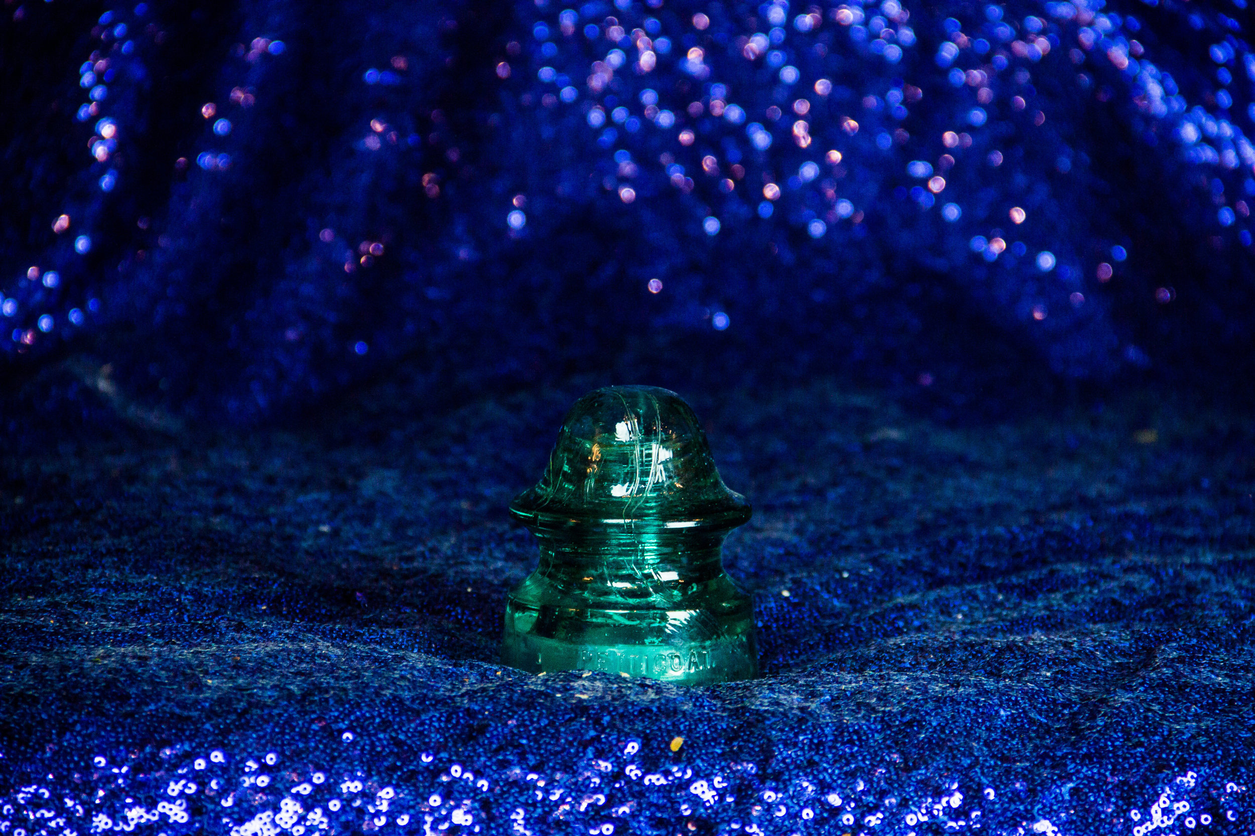 Turquoise Glass Insulator