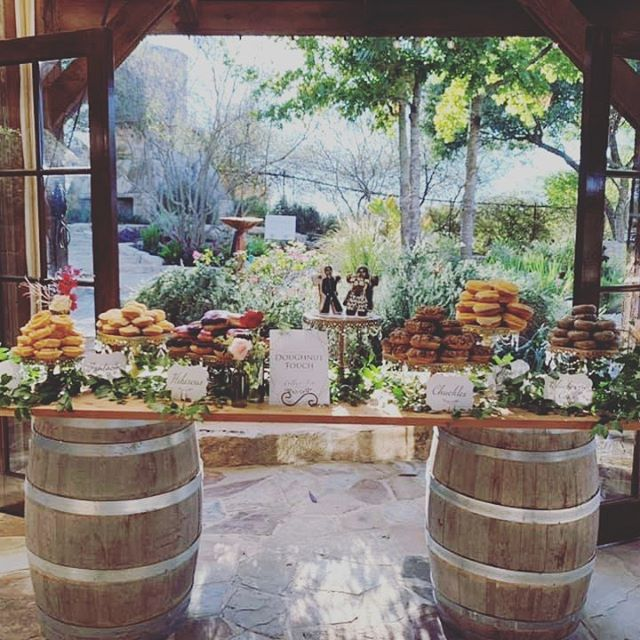 We love how Mercedes at Riven Rock Ranch styled our tiered cake stands!!