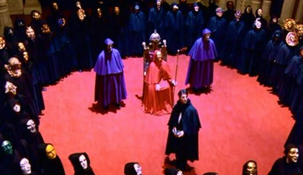 A scene from 'Eyes Wide Shut' with Tom Cruise.