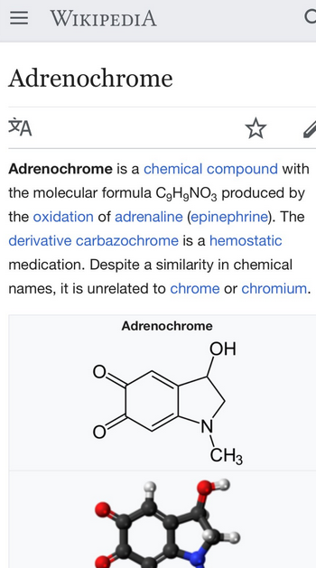Which part is fake news? Adrenochrome is real. And elites value its use deeply.