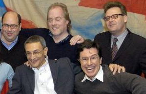 John Podesta with friend Stephen Colbert.