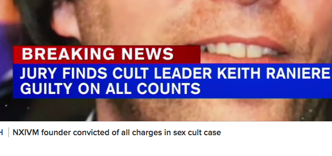 Keith Raniere found guilty on all counts.