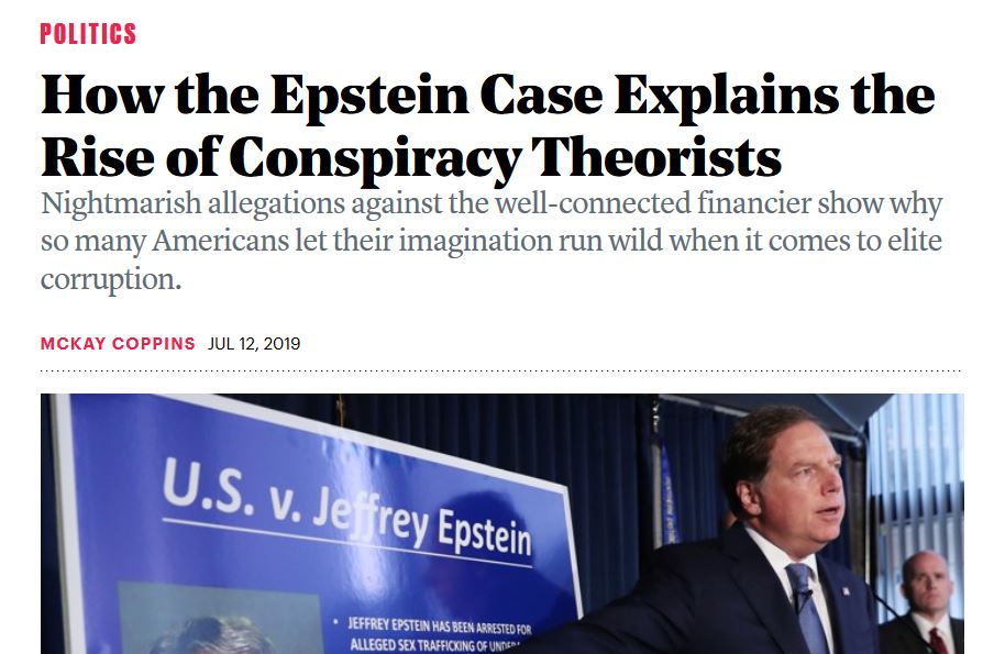 If you see something, say something: even  The Atlantic  sees some truth in all the allegations.