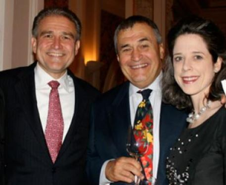 Former top DOJ man Peter Kadzik at an apparent wine hour with Tony Podesta and his wife.