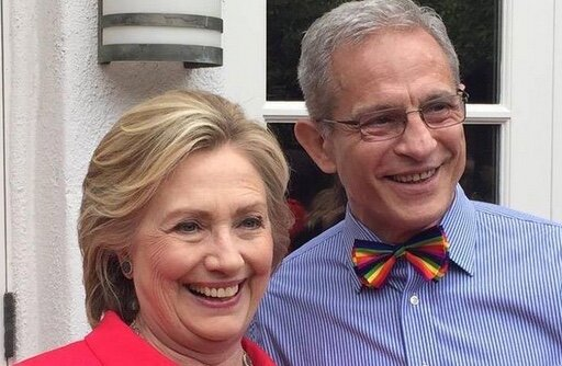 "Hillary Clinton photographed with wealthy ""mega-donor"" Ed Buck."