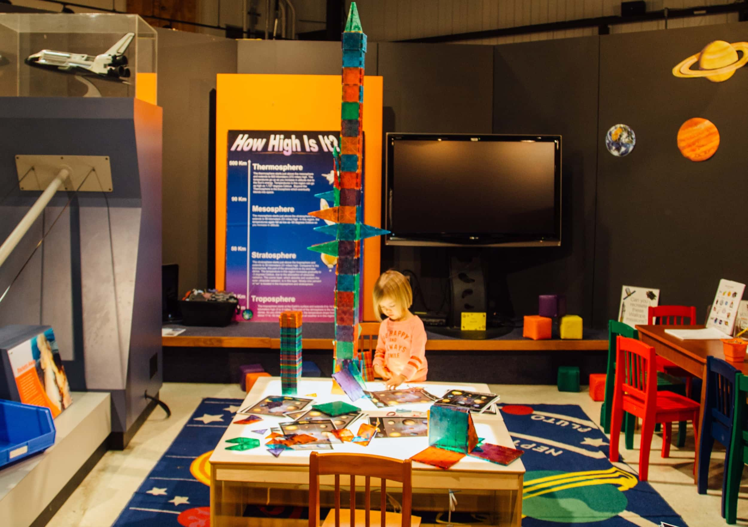 The kids area of Wallops Visitor Center - and this was taken before their new exhibits! (Photo by NASA).