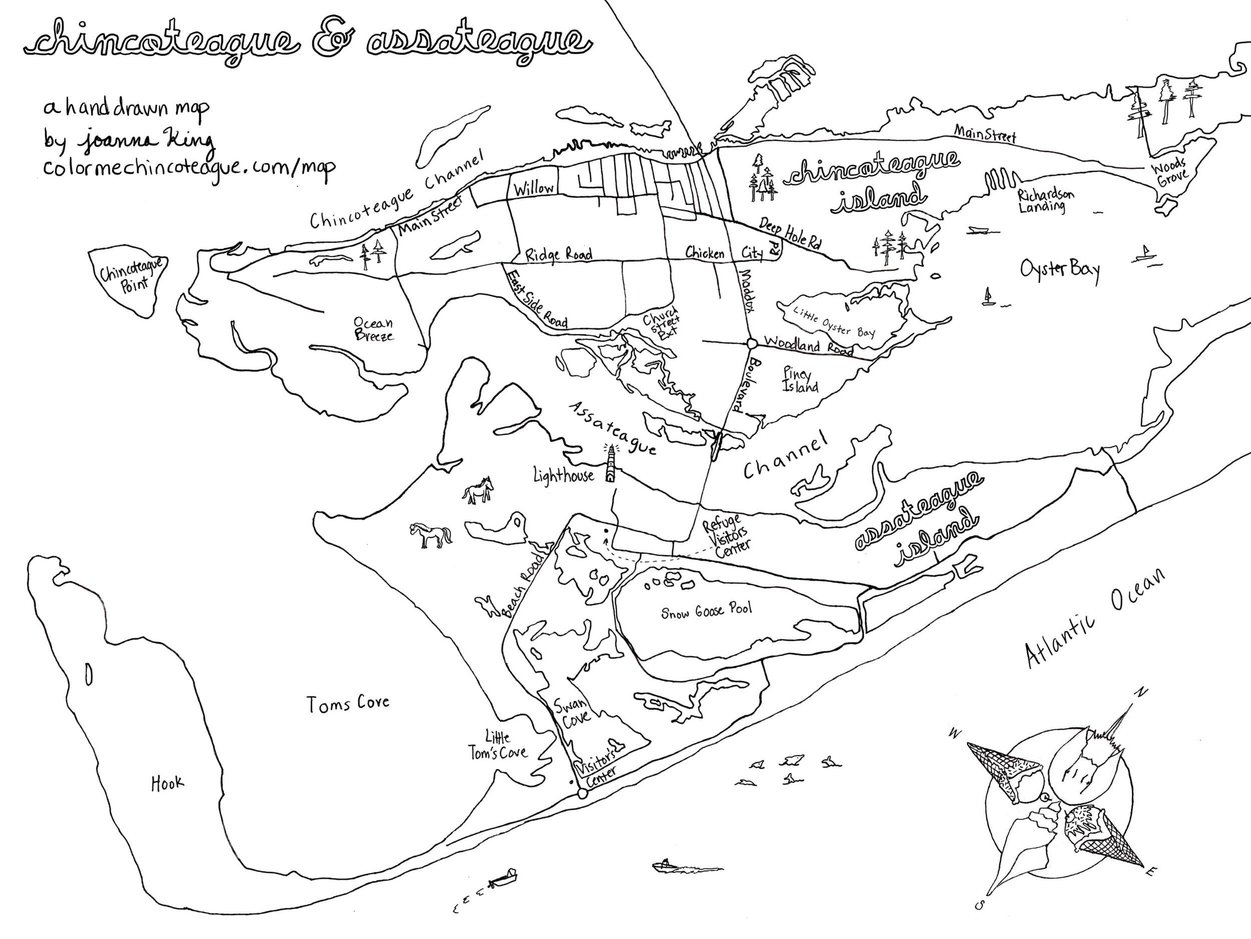 Chincoteague + Assateague Map black and white.jpg