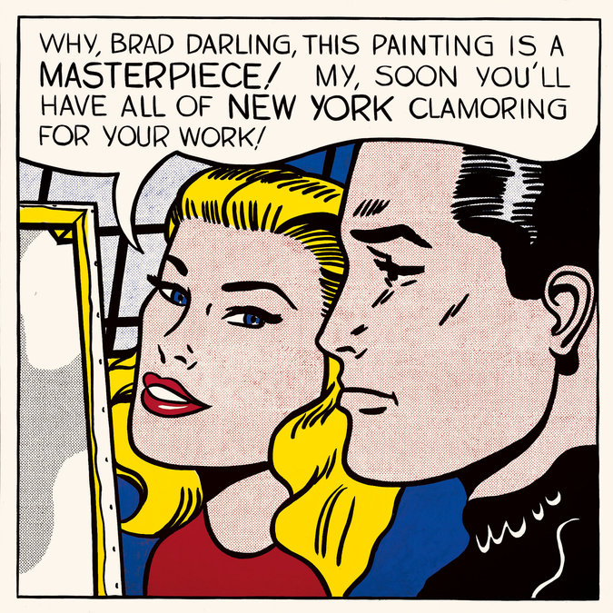 """Roy Lichtenstein's """"Masterpiece"""" (1962), which was sold to the collector Steven A. Cohen through Acquavella Gallery for $165 million, including fees"""