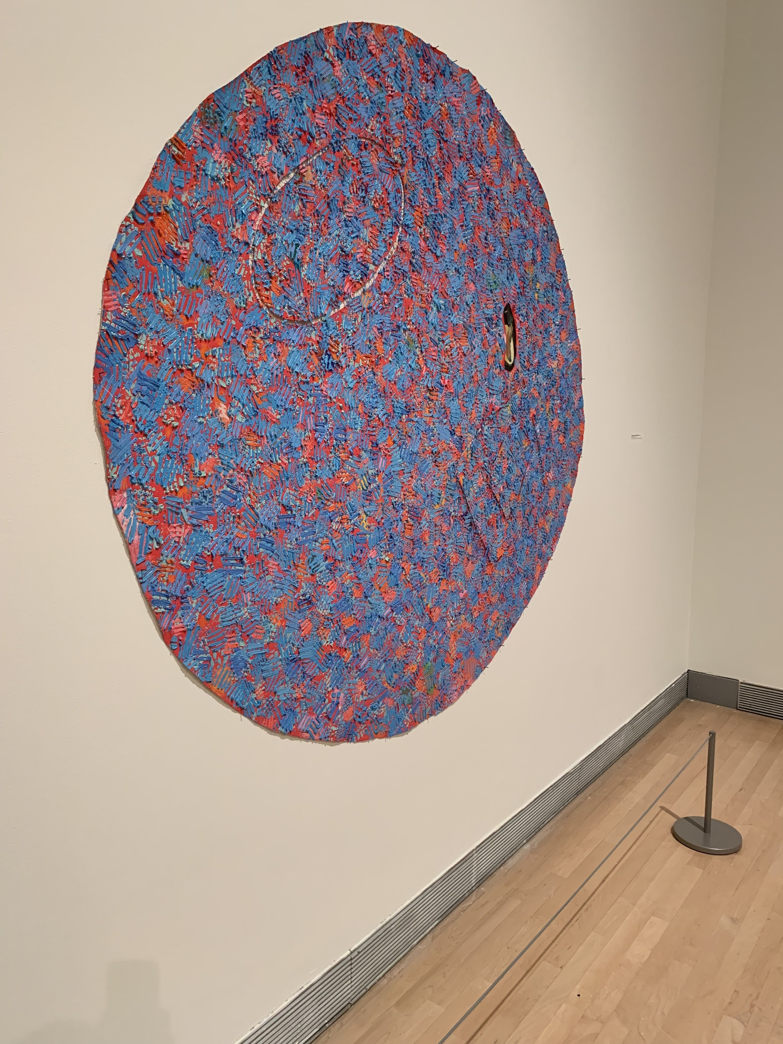 Howardena Pindell at the Rose Art Museum.