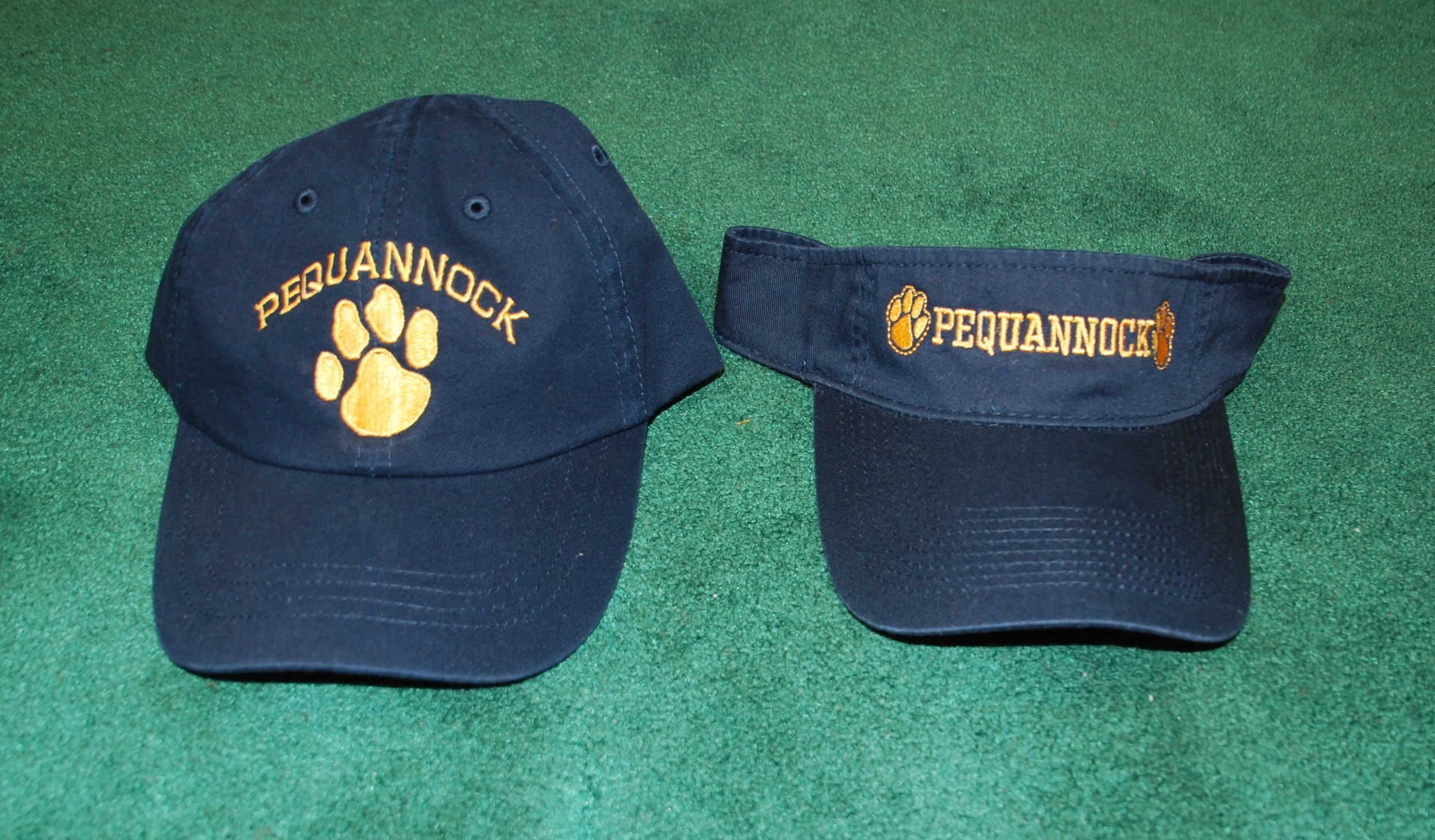 Pequannock Panthers embroidered cap and visor.