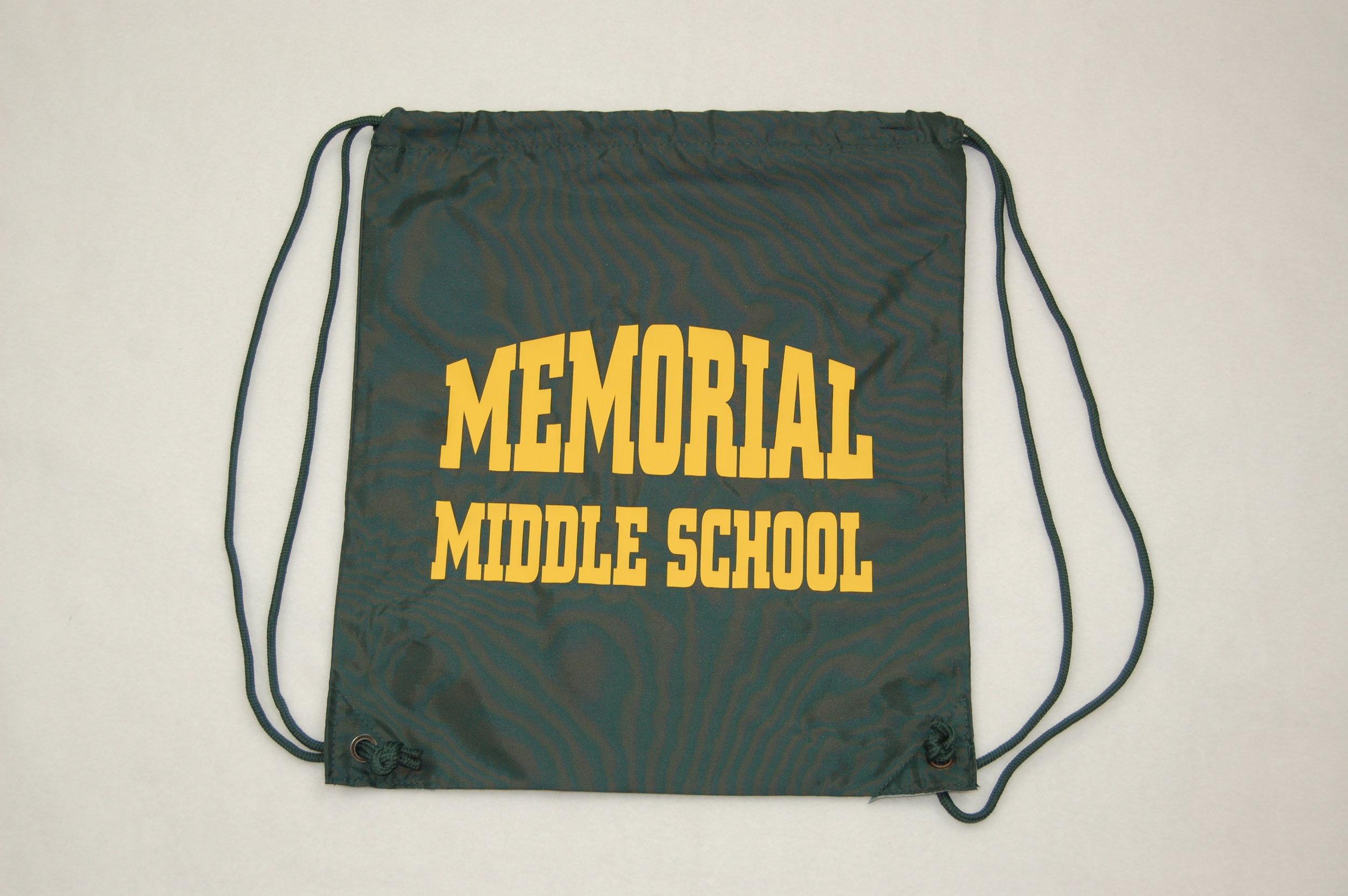 Memorial Middle School string bag.