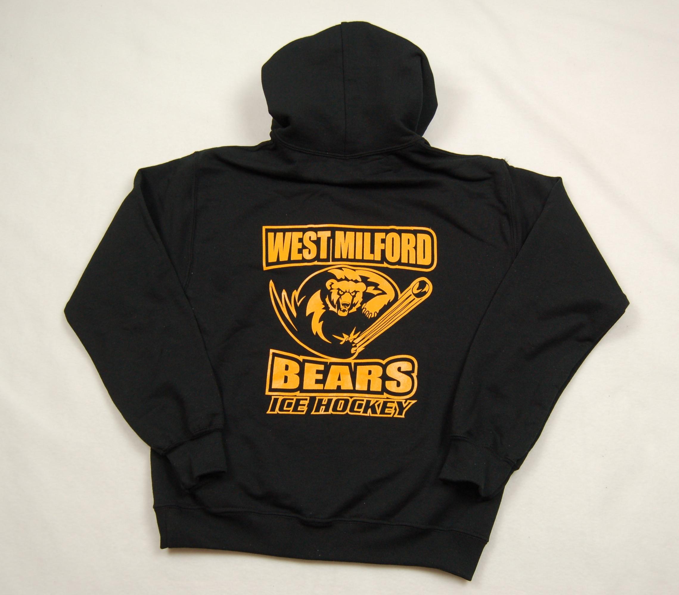 West Milford Bears Ice Hockey hoodie.