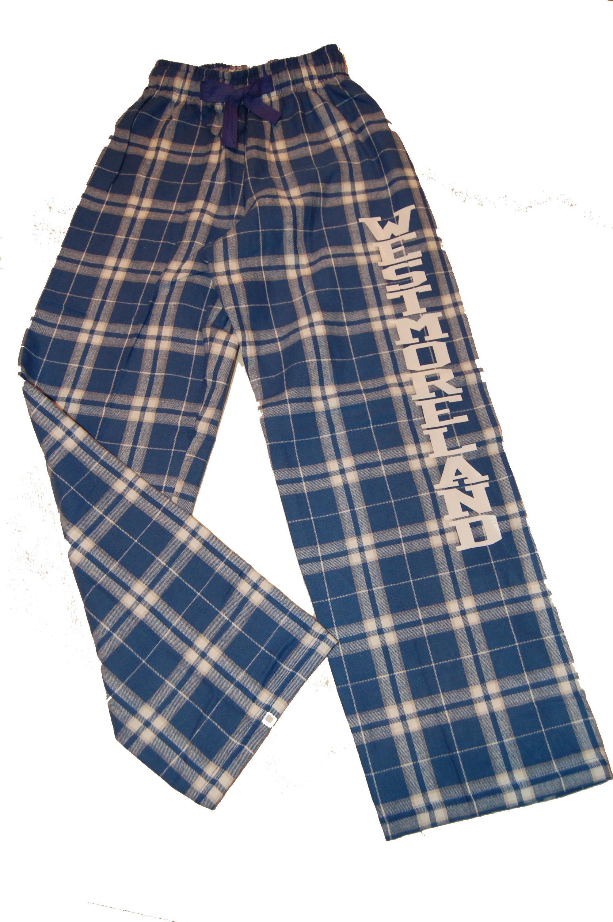 Westmoreland School plaid PJ pants.