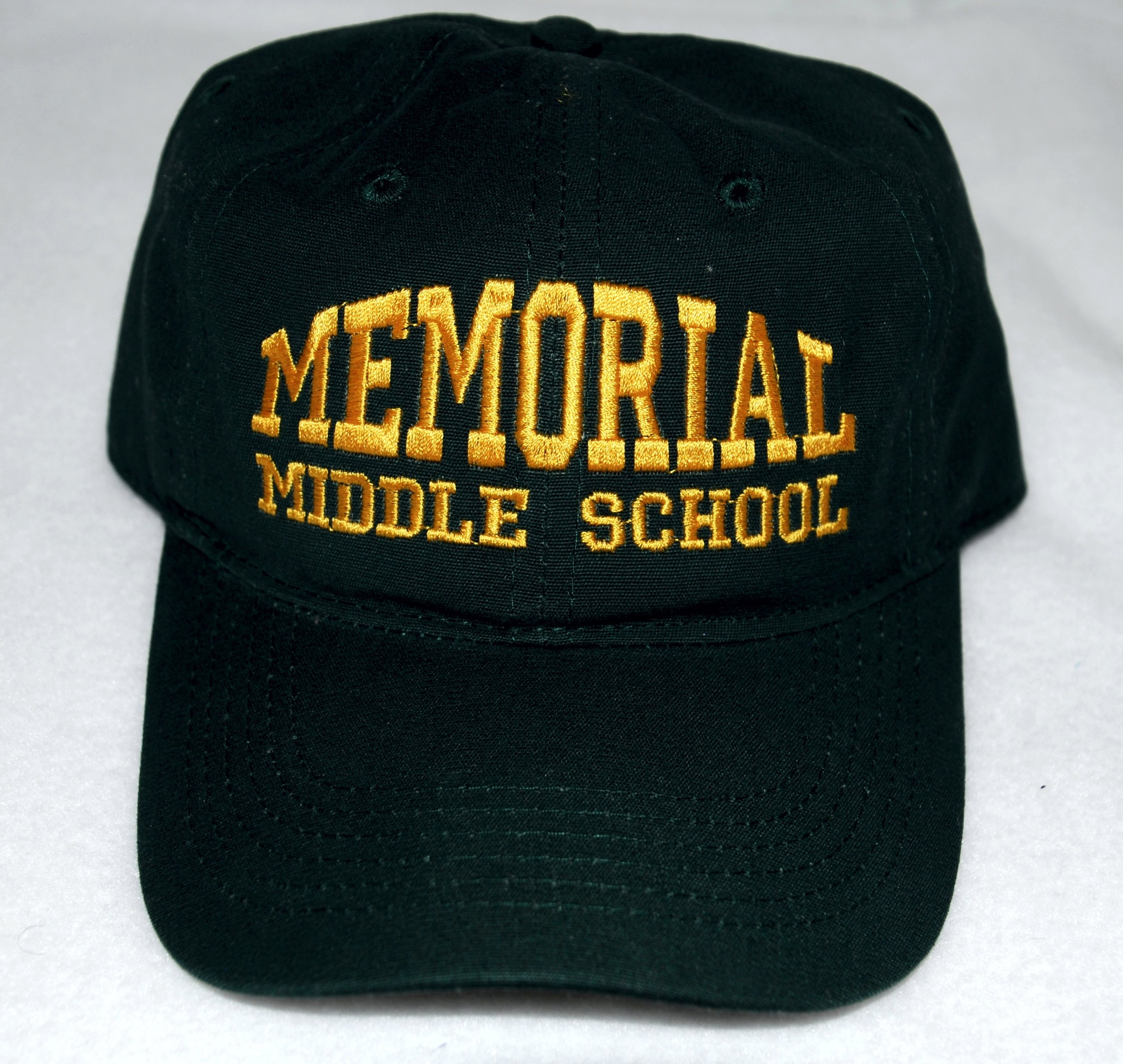 Memorial Middle School embroidered cap (front).