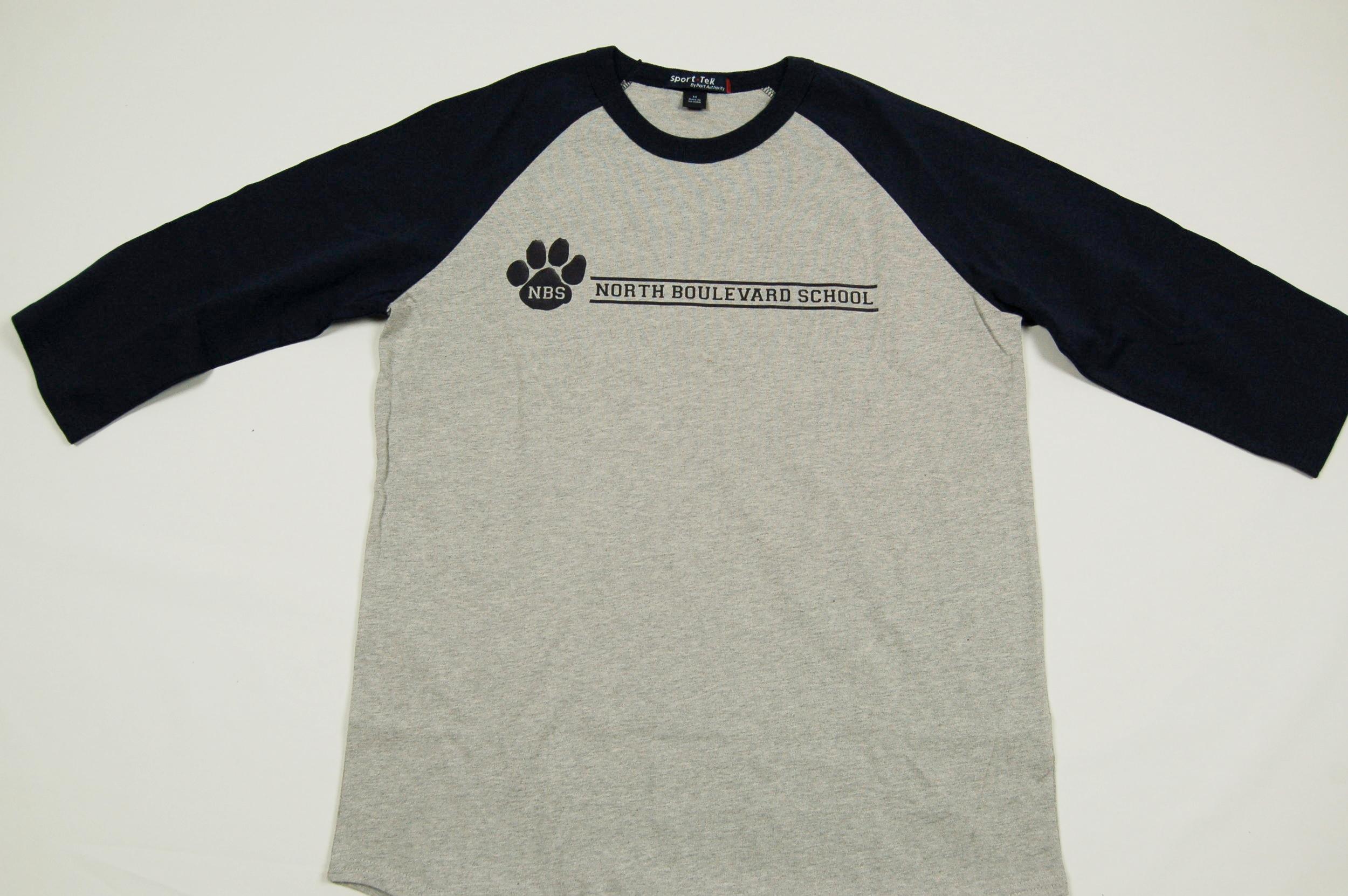 North Boulevard School 3/4 sleeve T-Shirt.