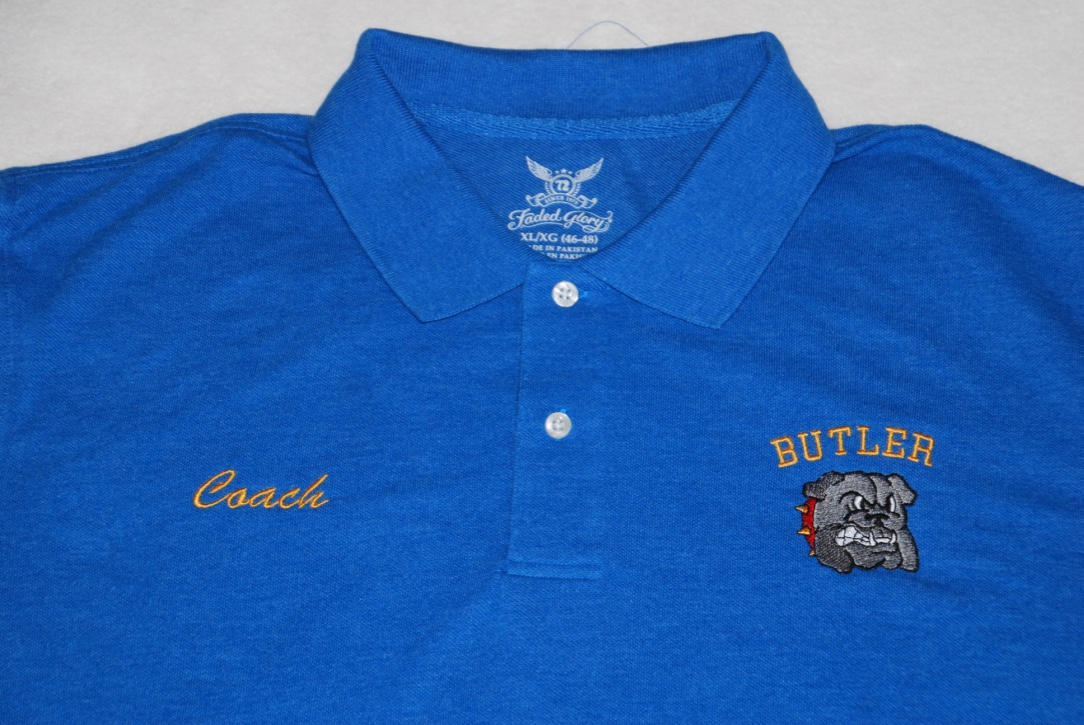 Butler Bulldogs embroidered polo.