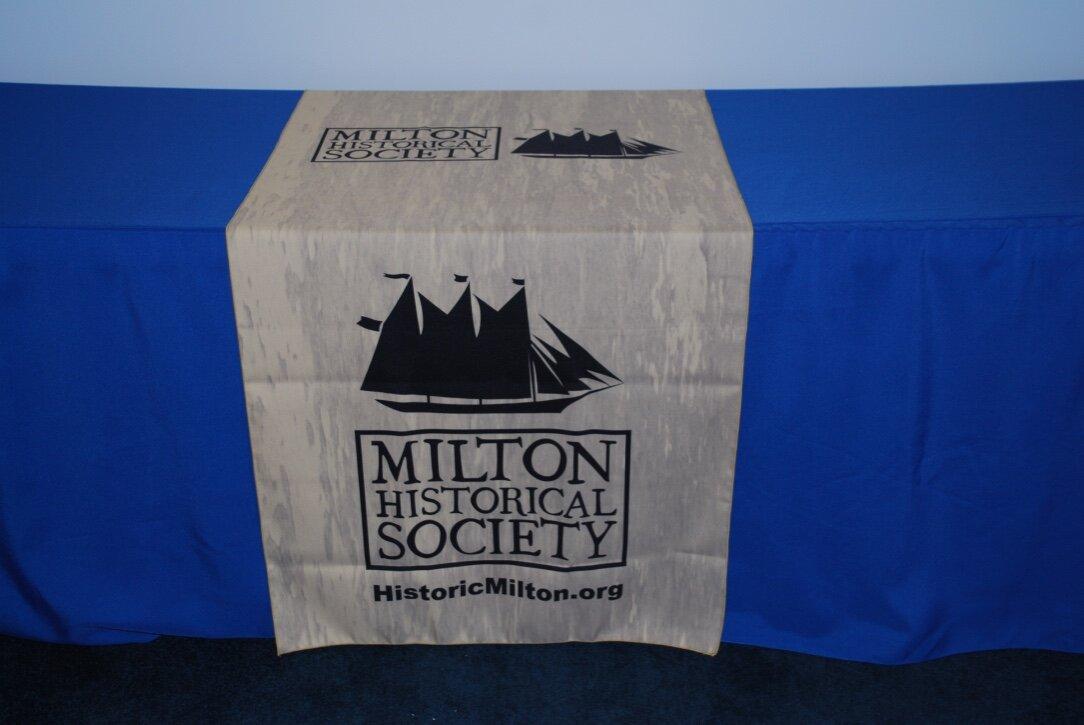 Milton Historical Society table runner