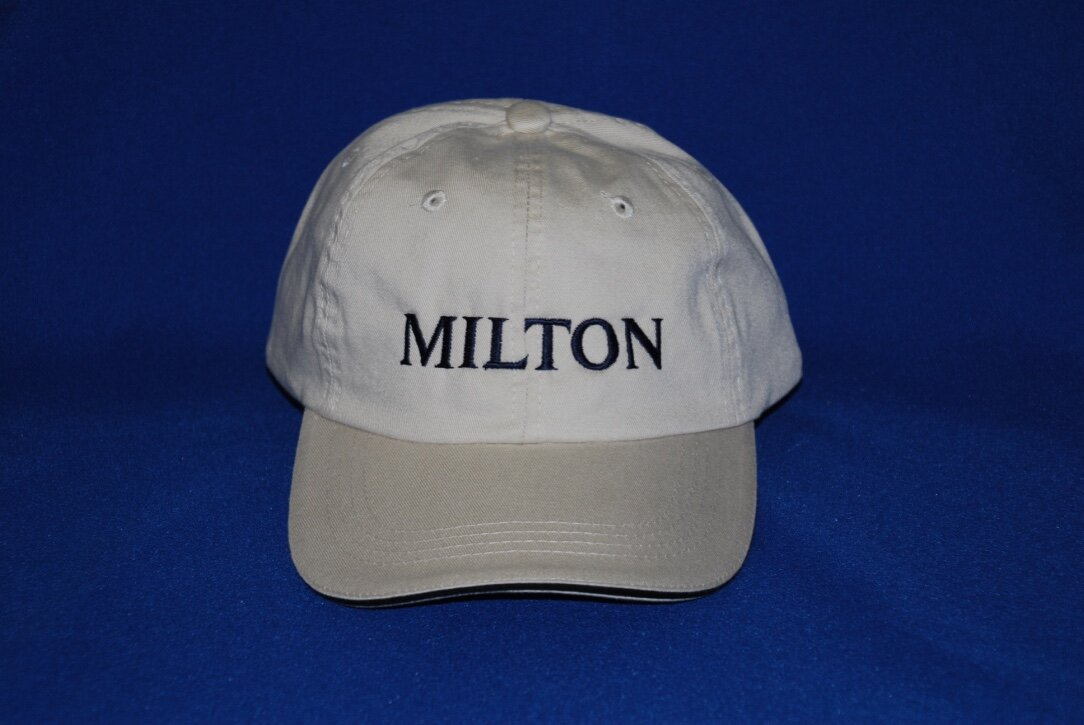 Milton embroidered cap