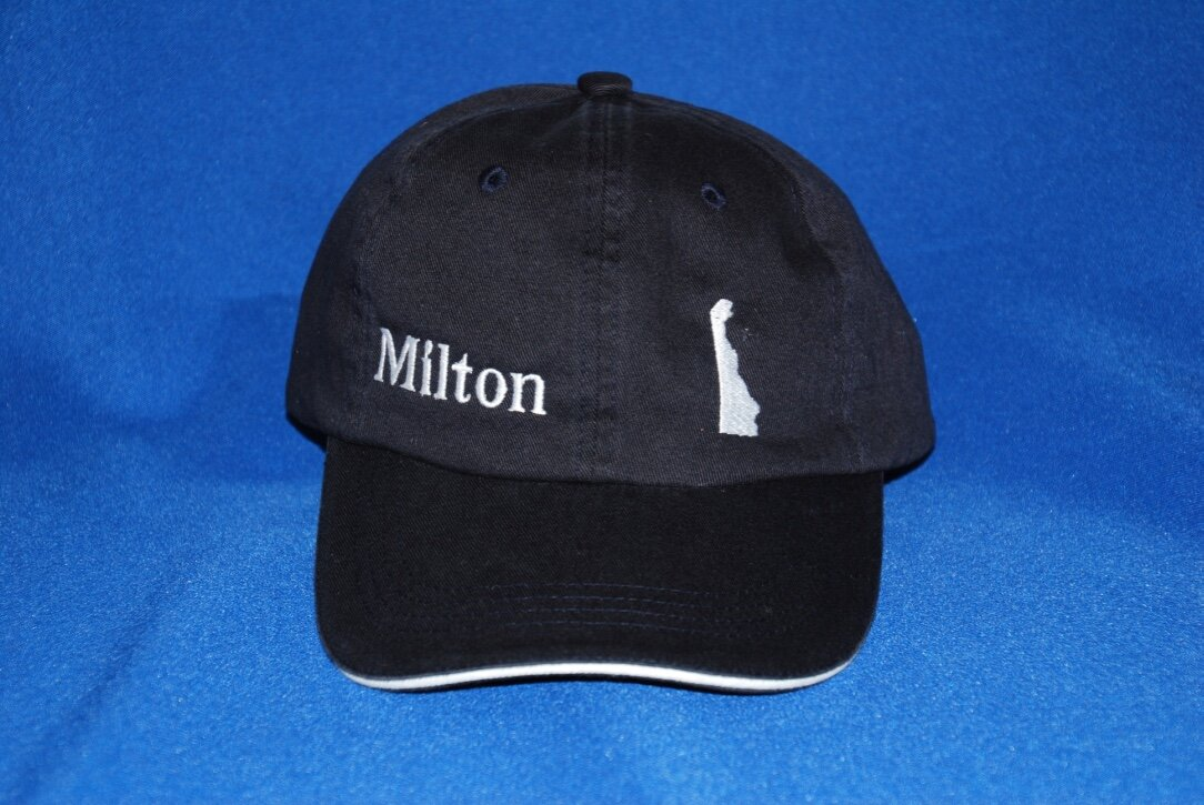 Milton, DE embroidered cap