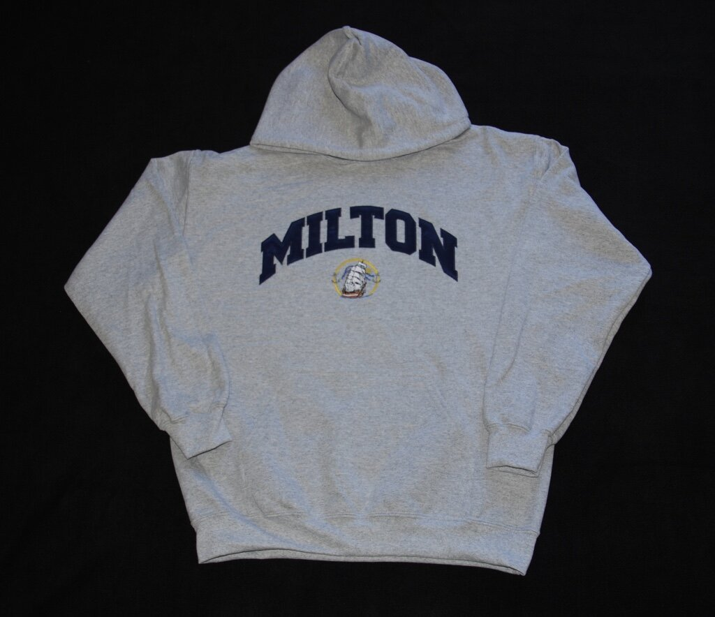 Milton embroidered applique' hoodie