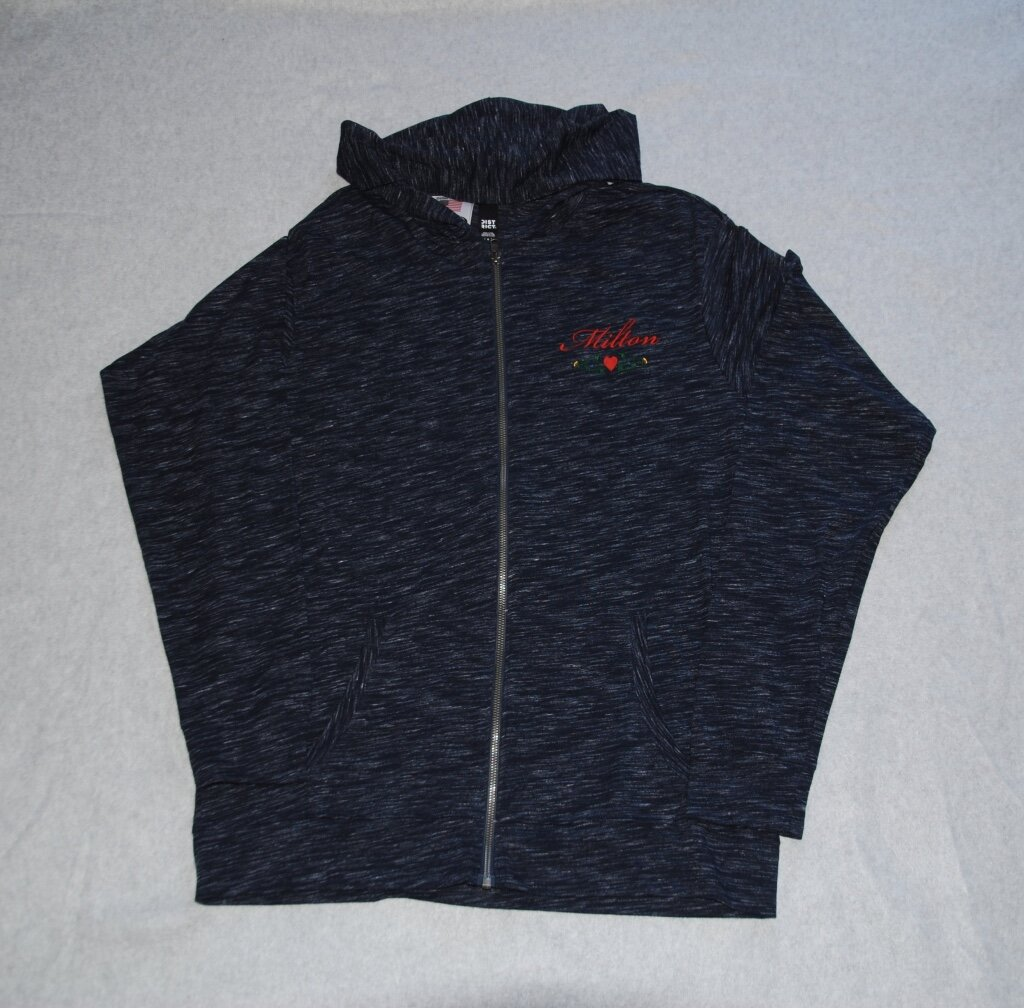 Milton embroidered full-zip hoodie