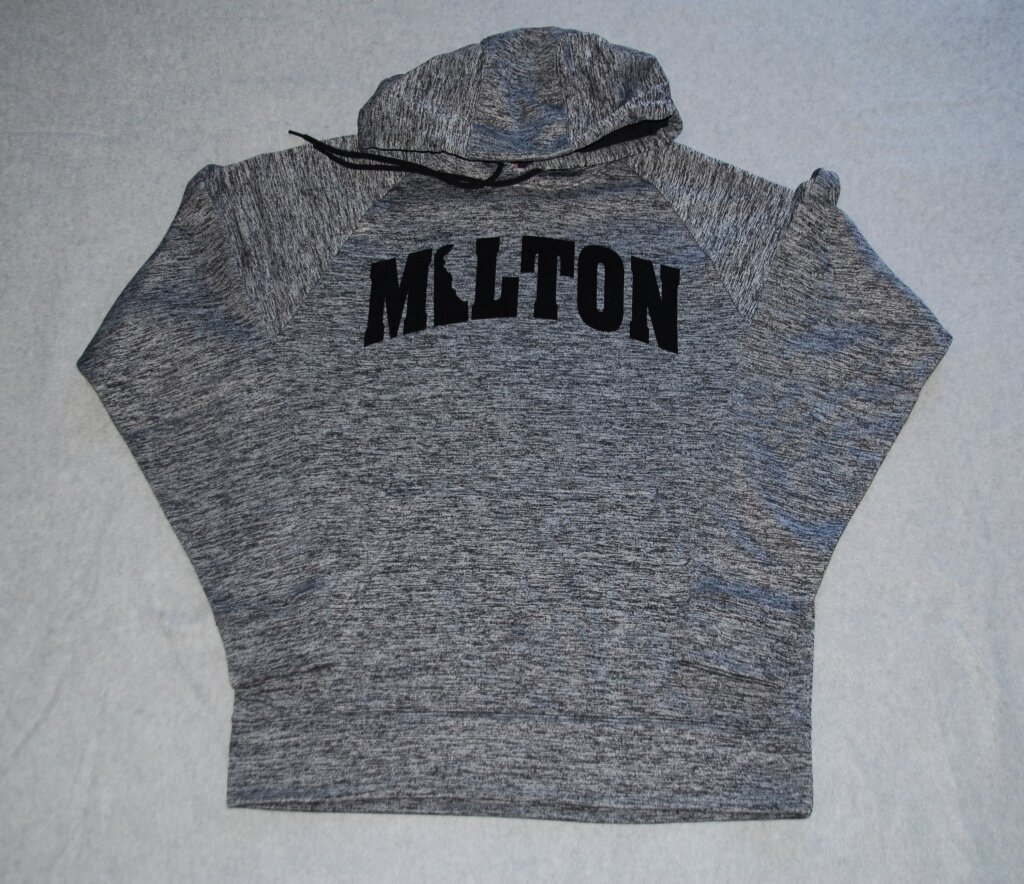 Milton with flock embellishment