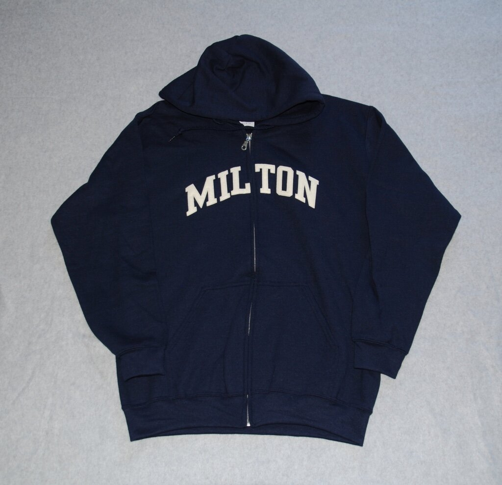 Milton embroidered applique'