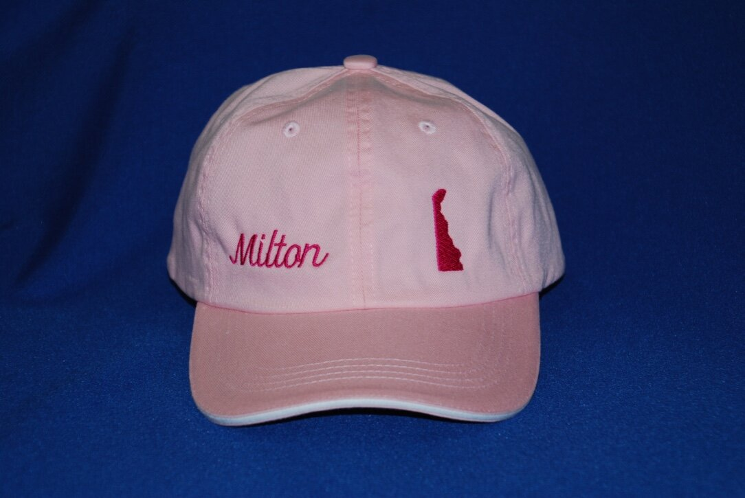 Milton, DE embroidered cap